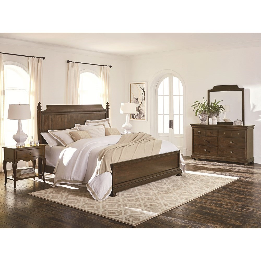 Bassett Chateau 2690 K159 Queen Panel Bed With Turned