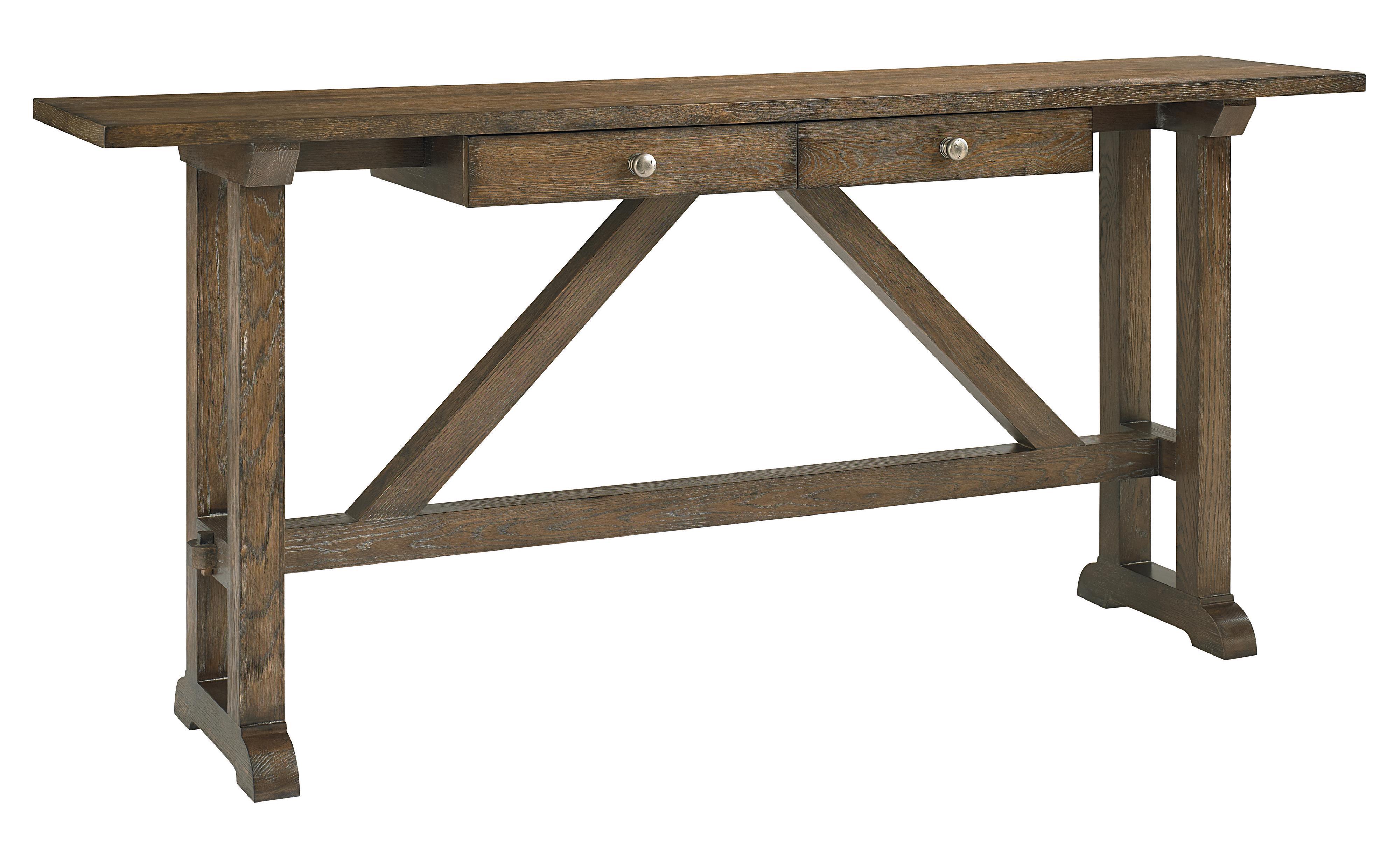 Bassett compass 6525 0698 console table john v schultz for Sofa table vs console table