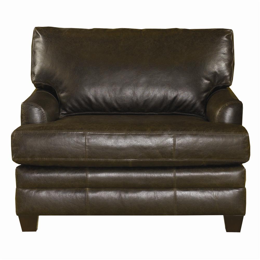 bassett cu 2 3846 18ul upholstered leather chair and a half john v schultz furniture chair. Black Bedroom Furniture Sets. Home Design Ideas