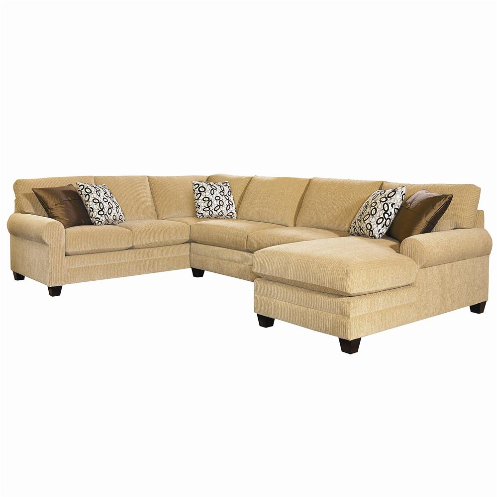Bassett cu 2 u shaped stationary sectional group john v for Furniture 2 u