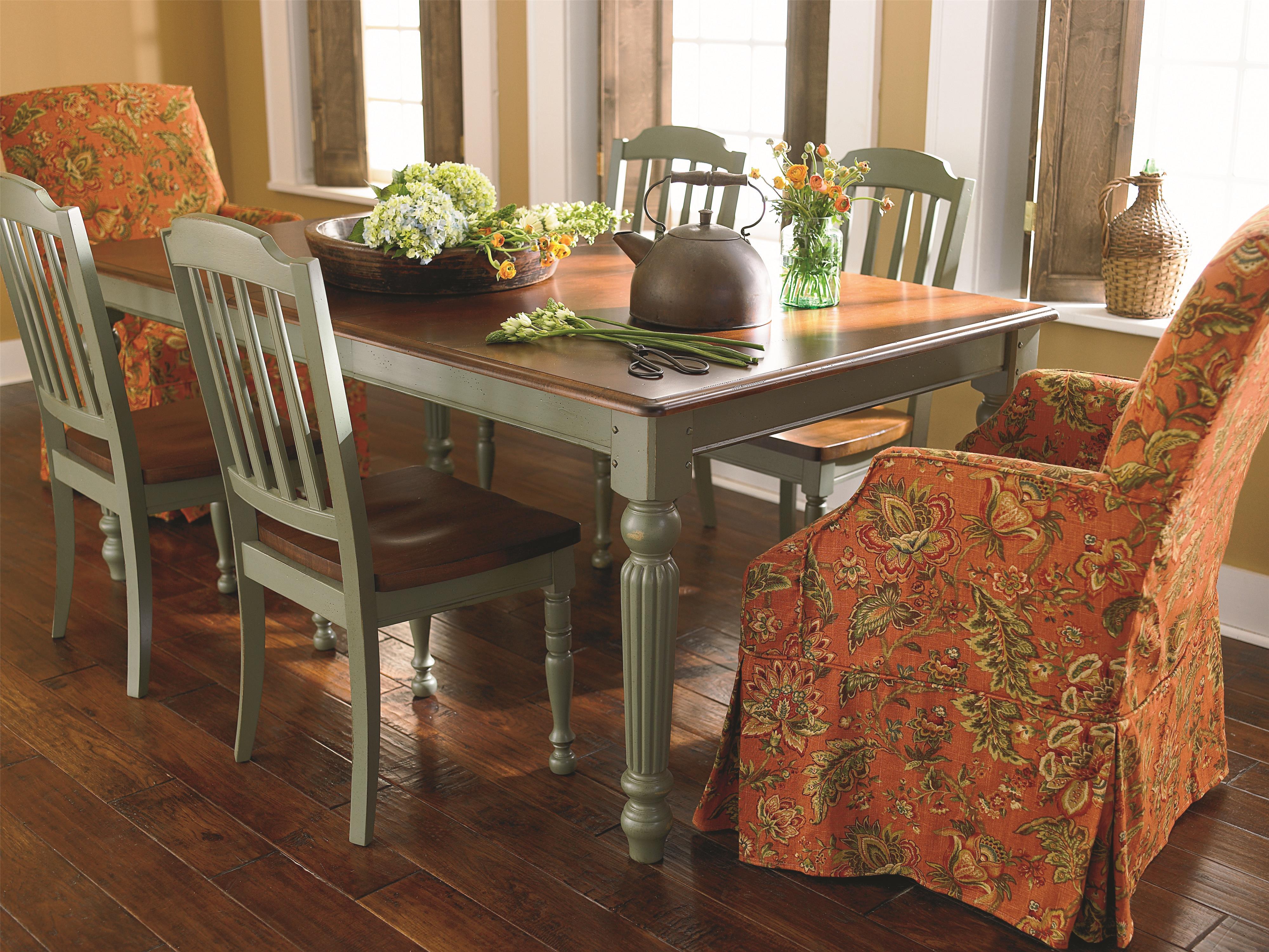Bassett Custom Dining 4469 Customizable Rectangle Dining Table Hudson s