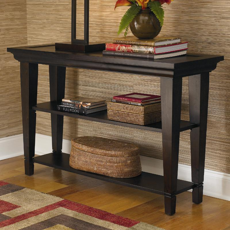 Bassett Easton Console Sofa Table with Two Shelves Dunk