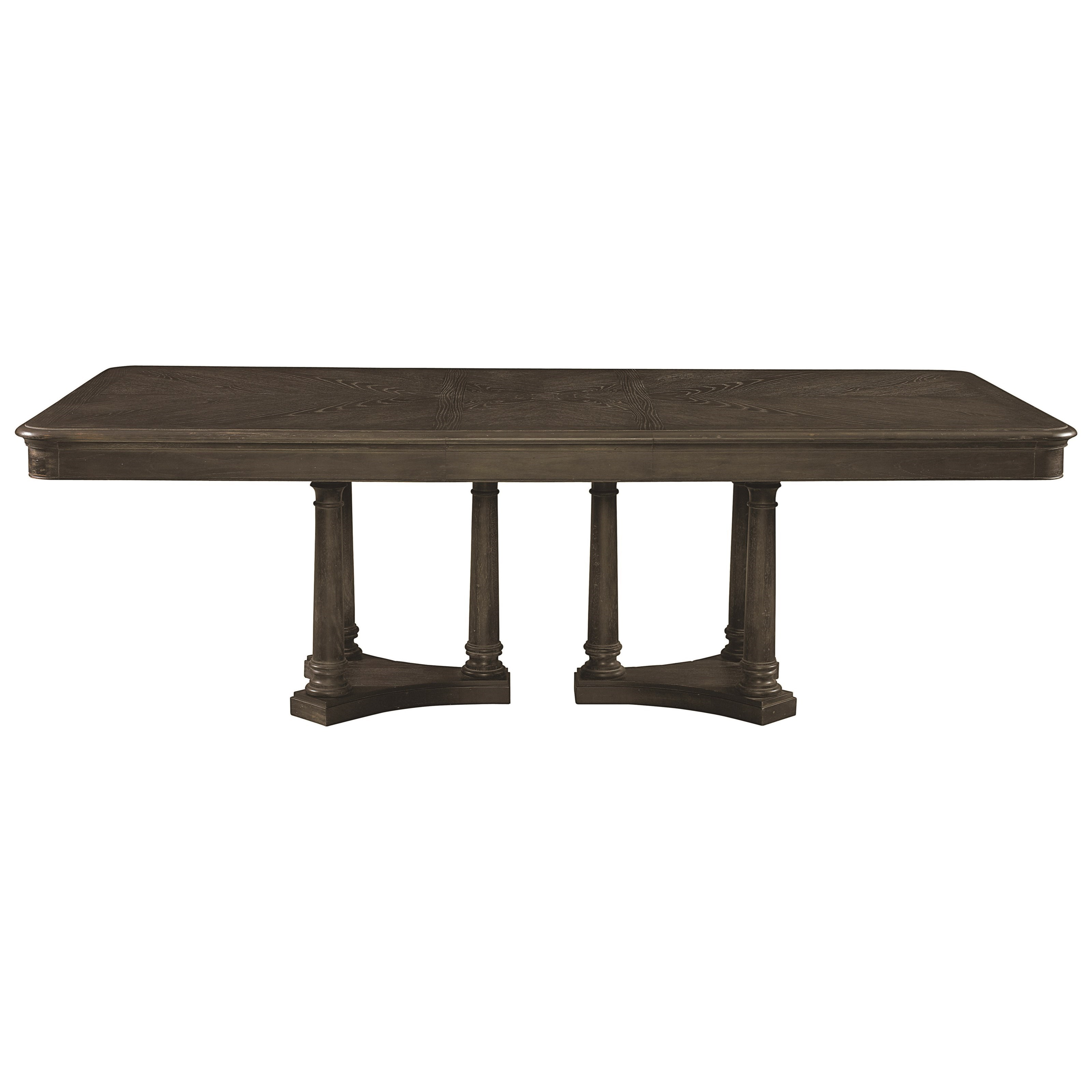 Bassett emporium 4513 4676 rectangular dining table seats for Dining table to seat 20