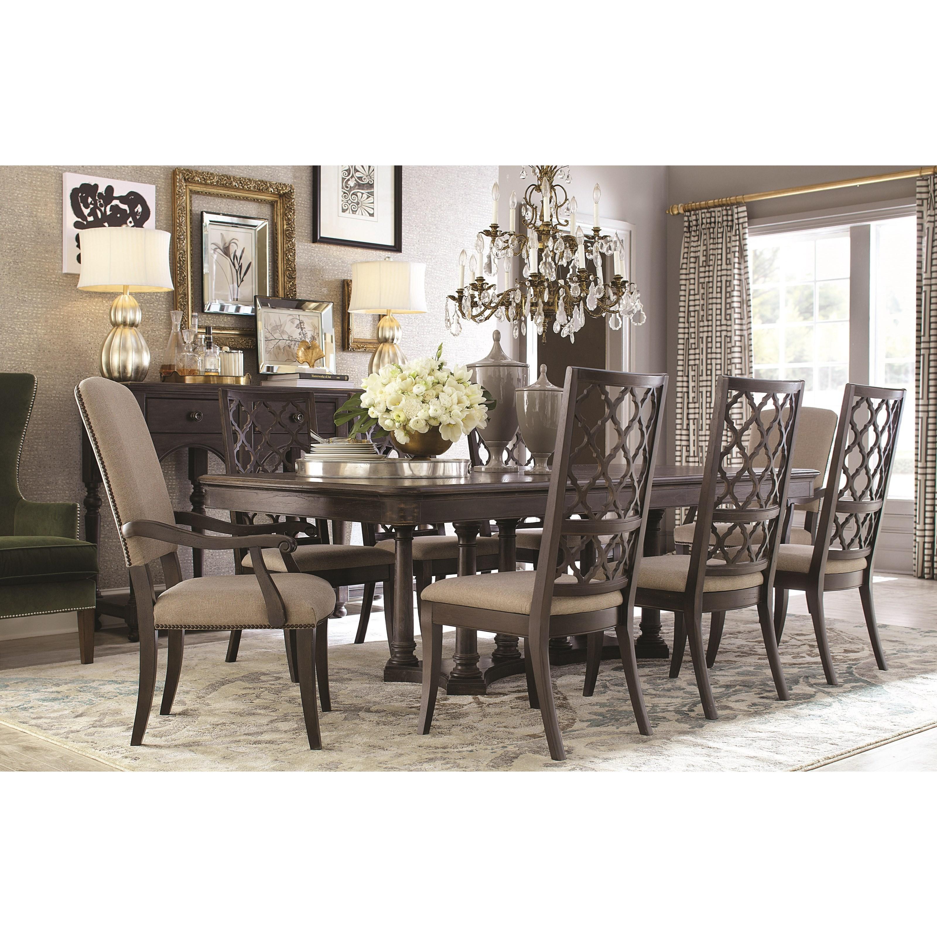 Bassett Emporium Rectangular Dining Table seats up to 10 Fashion Furnitur
