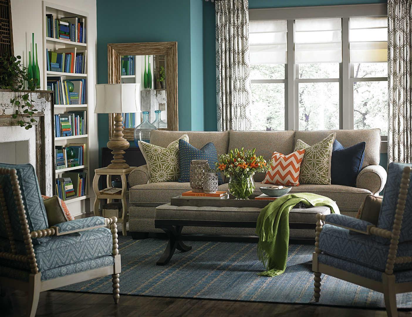 bassett hgtv home design studio 7000 customizable large sofa great american home store sofa. Black Bedroom Furniture Sets. Home Design Ideas