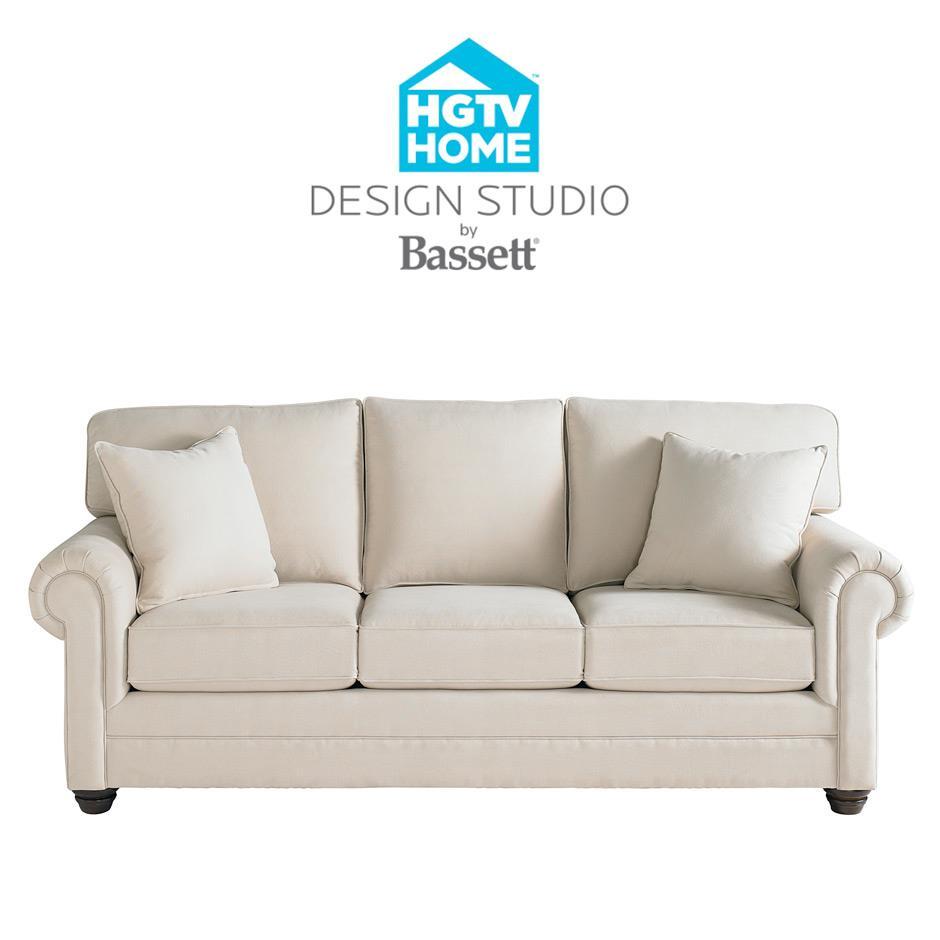 Bassett Hgtv Home Design Studio 7000 Customizable Large Sofa Great American Home Store Sofa