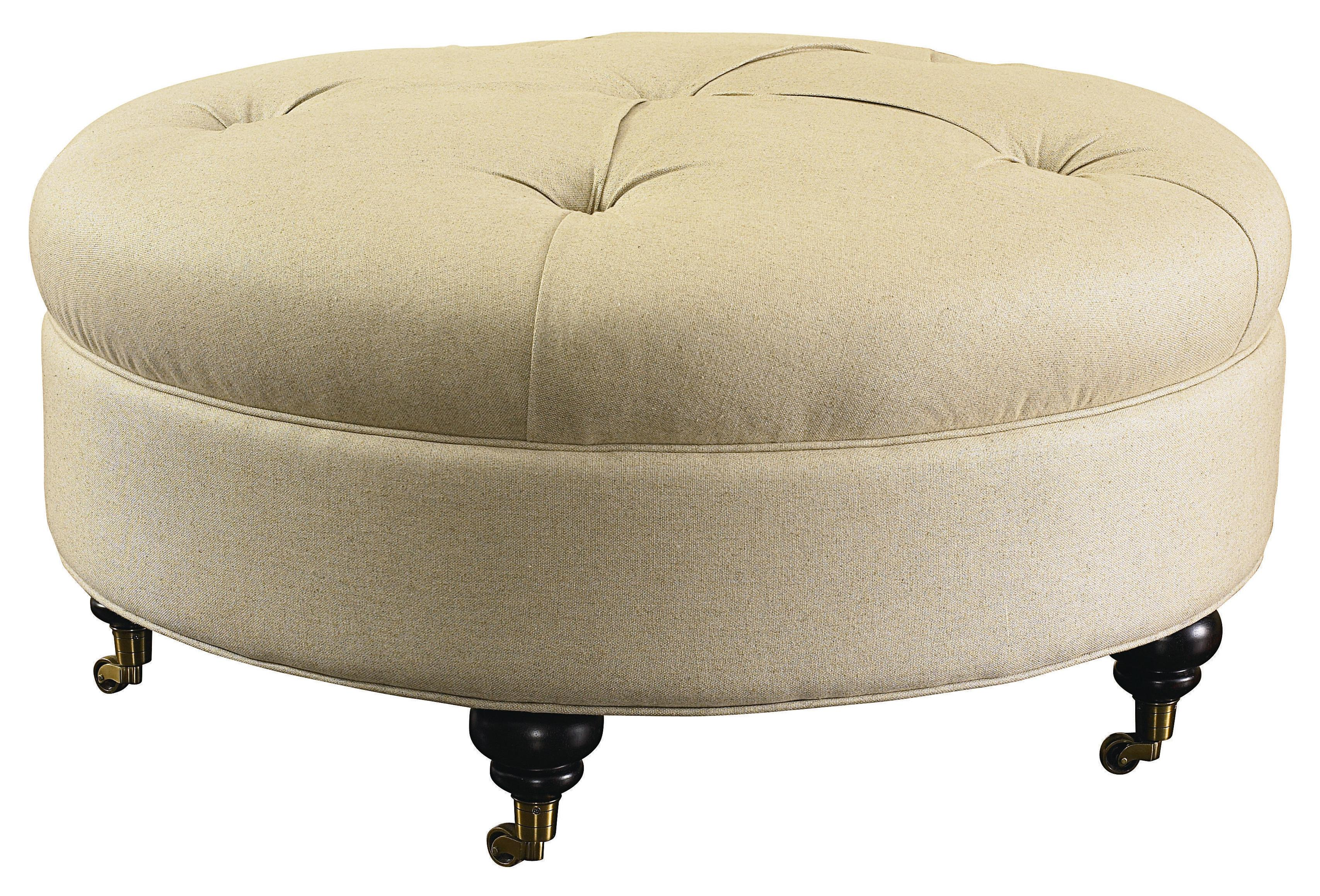 Bassett Hgtv Home Design Studio 1000 Ro Round Ottoman With Traditional Features Dunk Bright