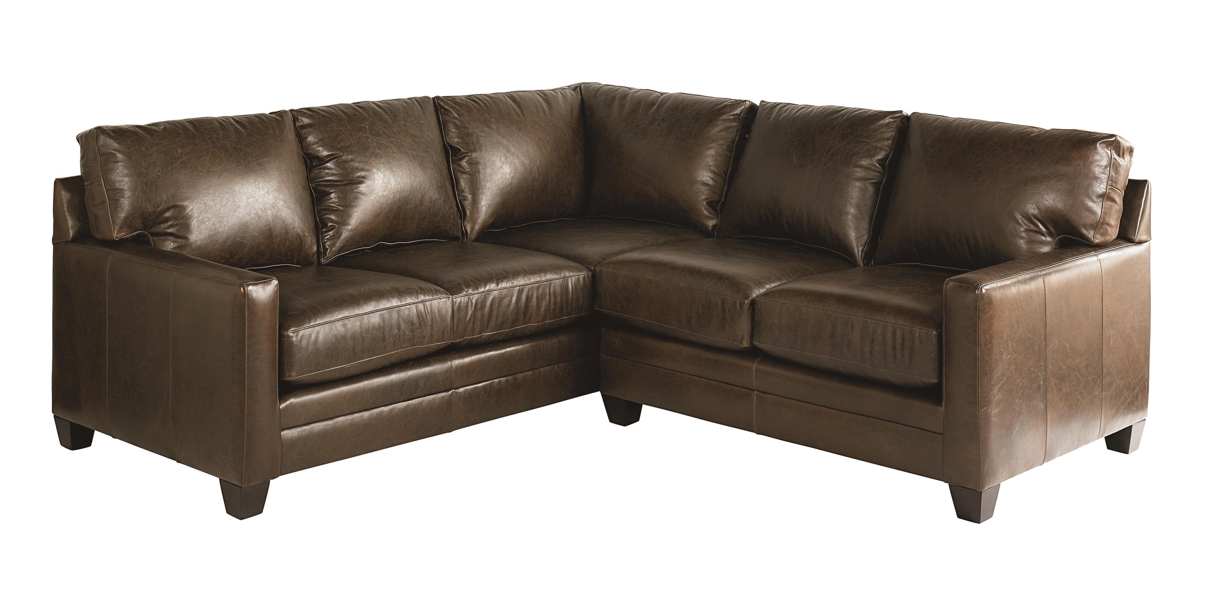 Bassett ladson sectional sofa dunk bright furniture for Small sectional sofa bassett