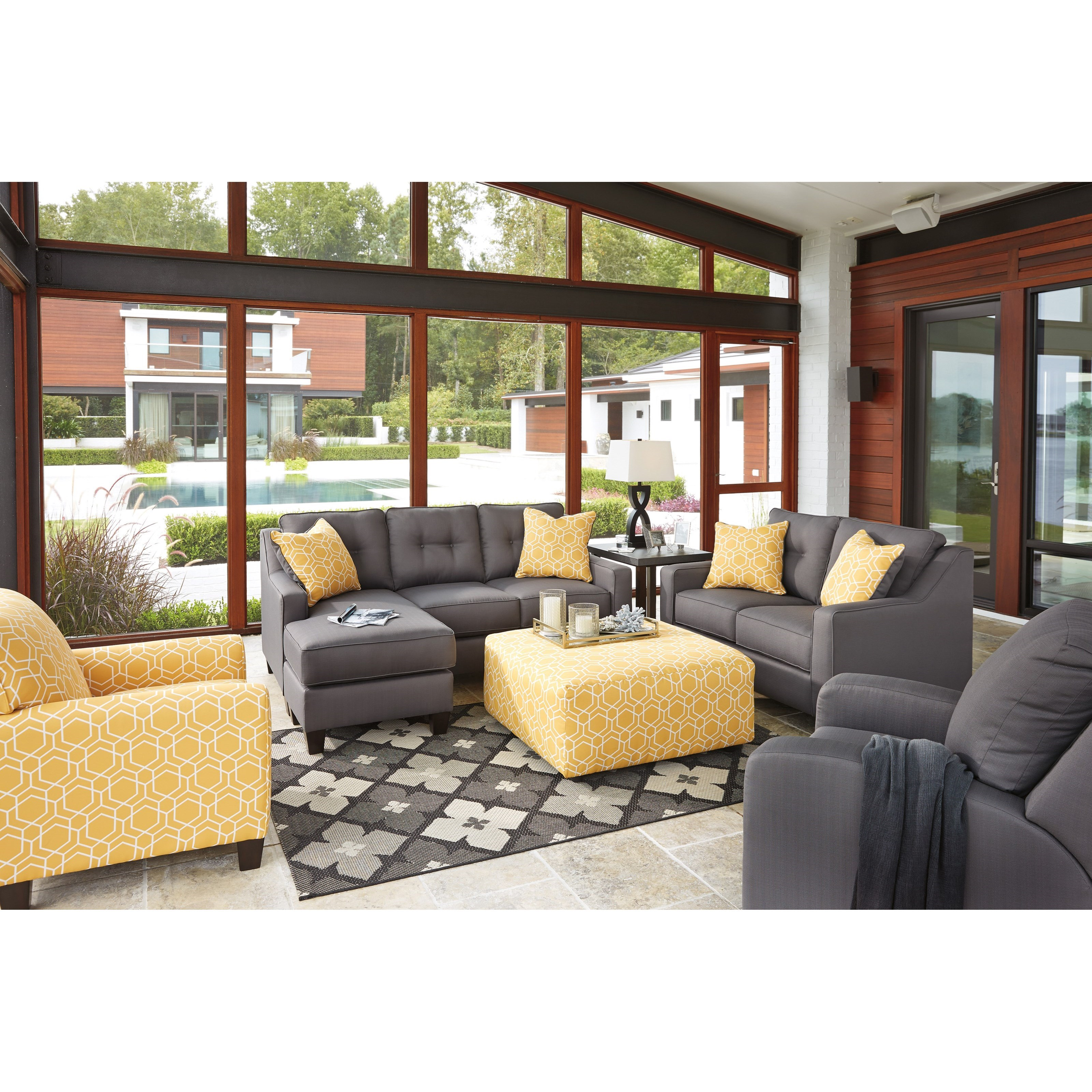 Living room group del sol furniture stationary living room groups
