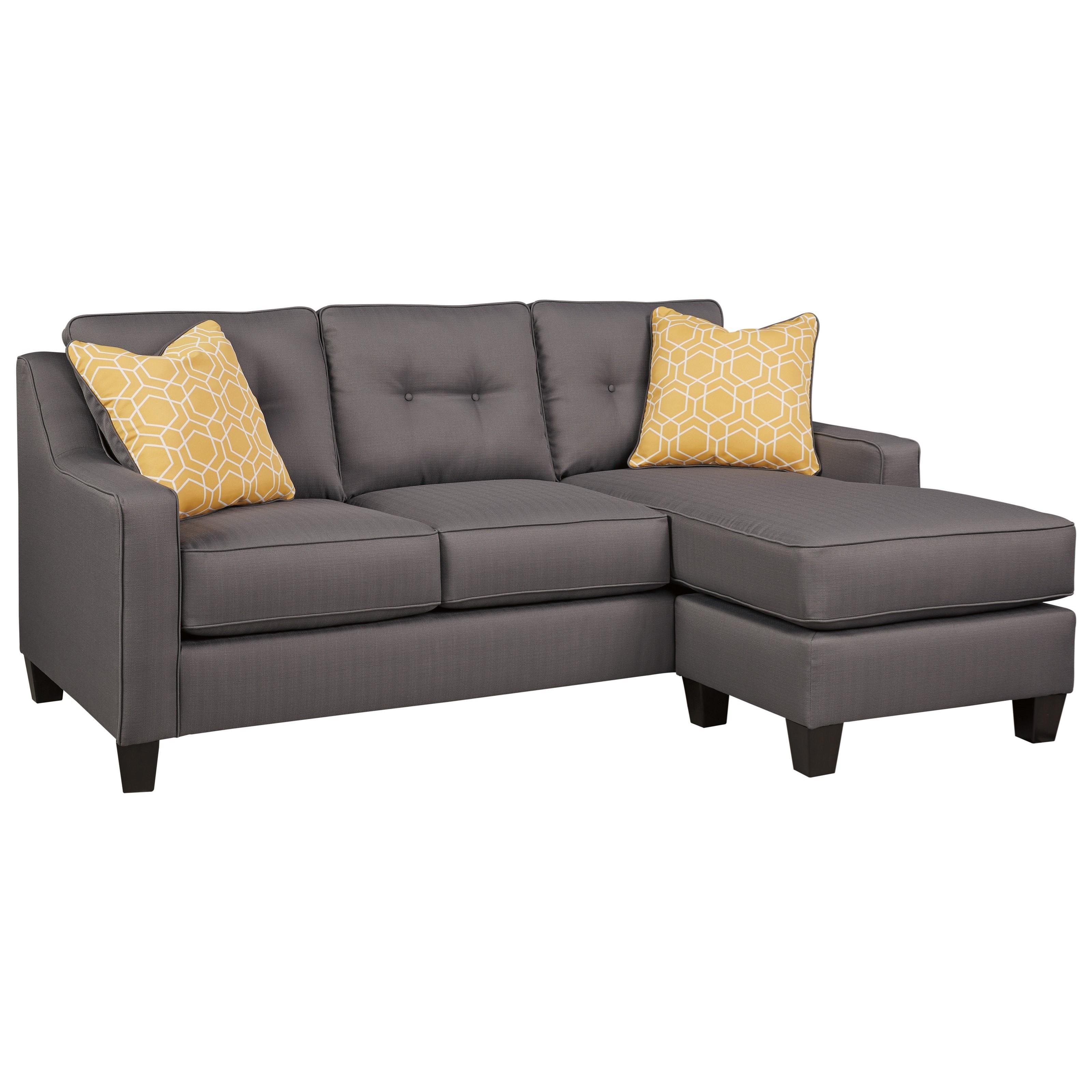 Benchcraft aldie nuvella 6870218 contemporary sofa chaise for Divan vs chaise