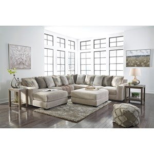 Benchcraft Ardsley Contemporary 2 Piece Sectional With
