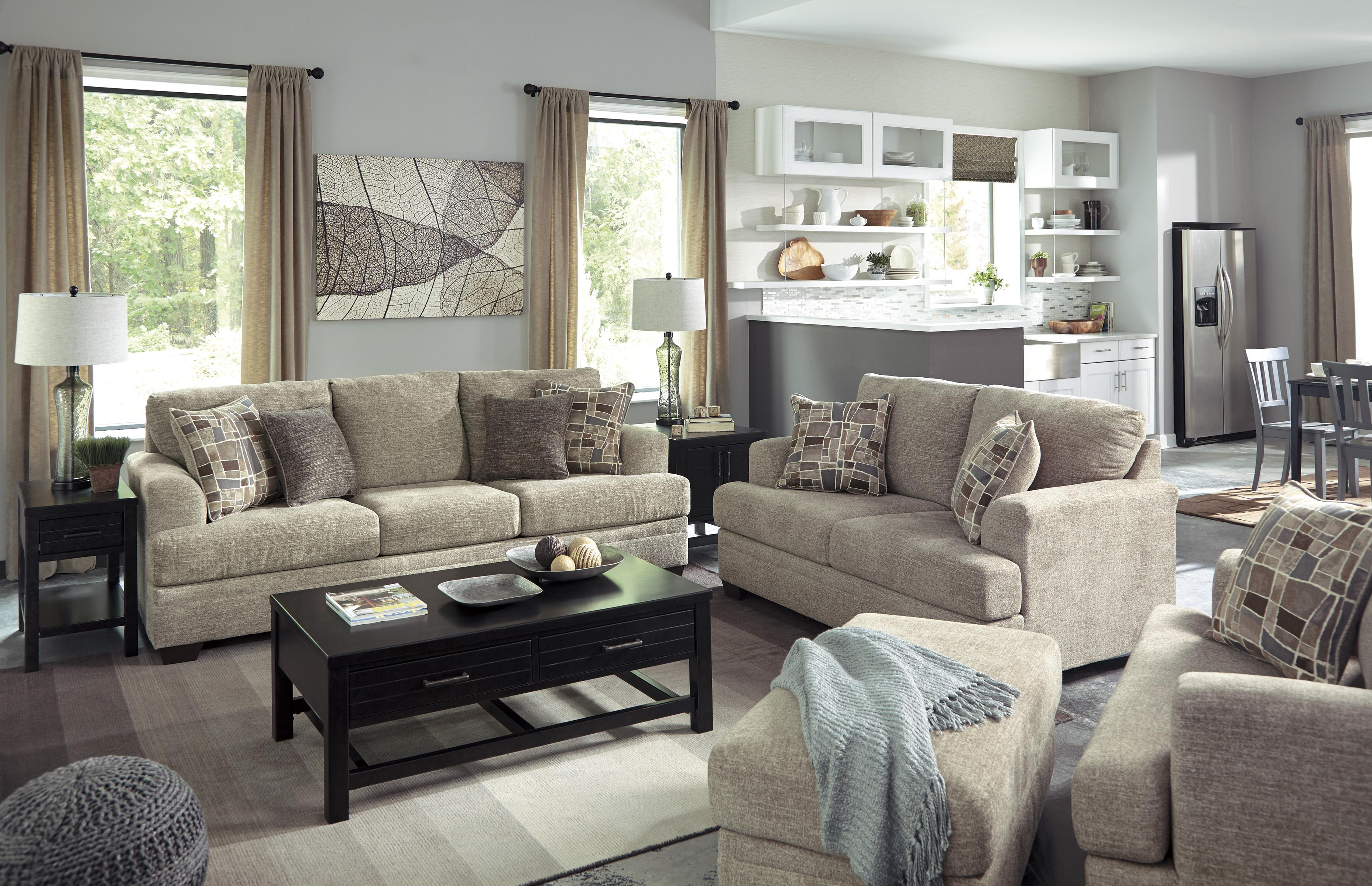 benchcraft barrish stationary living room group northeast factory direct upholstery group. Black Bedroom Furniture Sets. Home Design Ideas