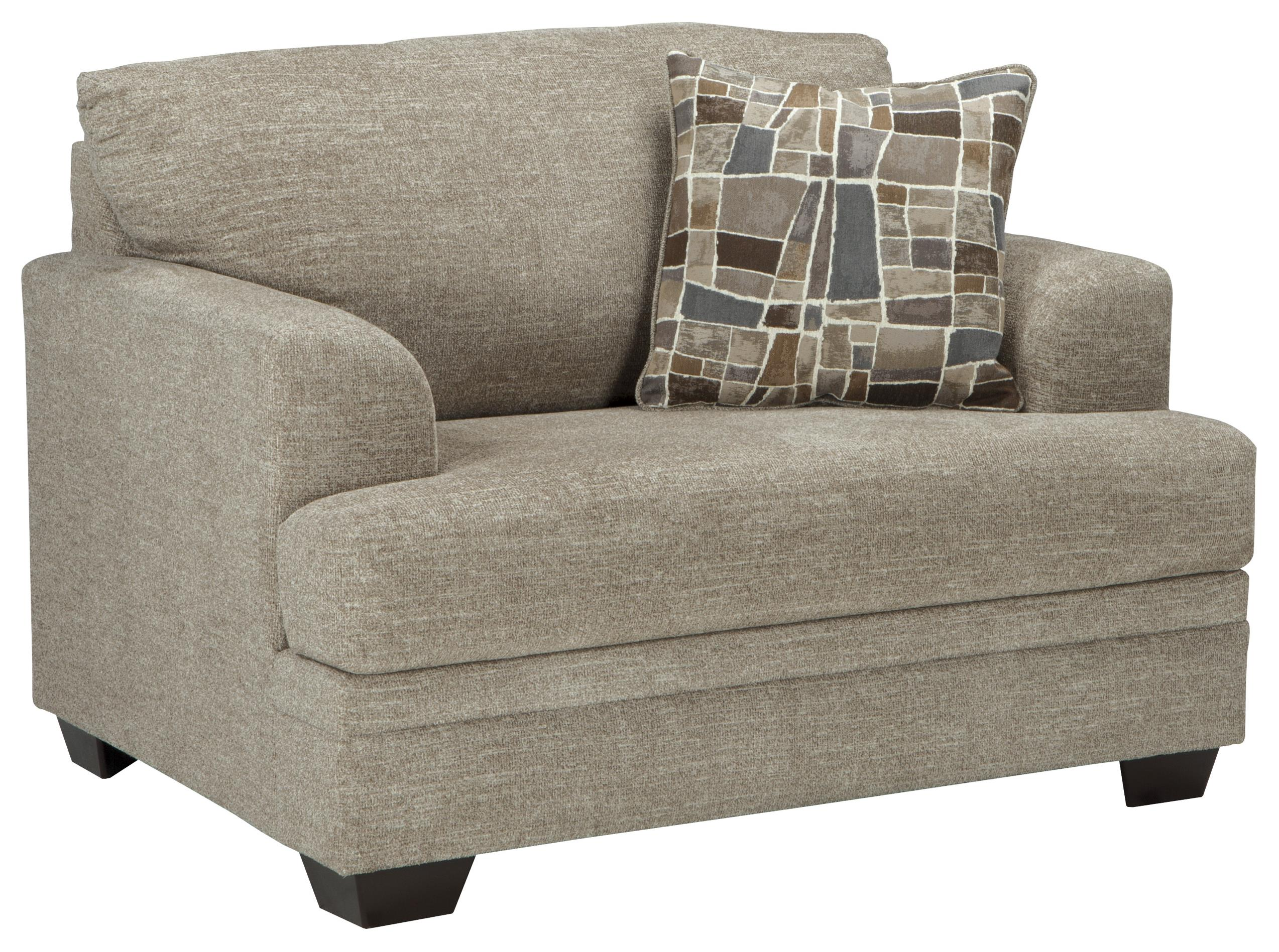 Benchcraft Barrish Contemporary Chair and a Half & Ottoman