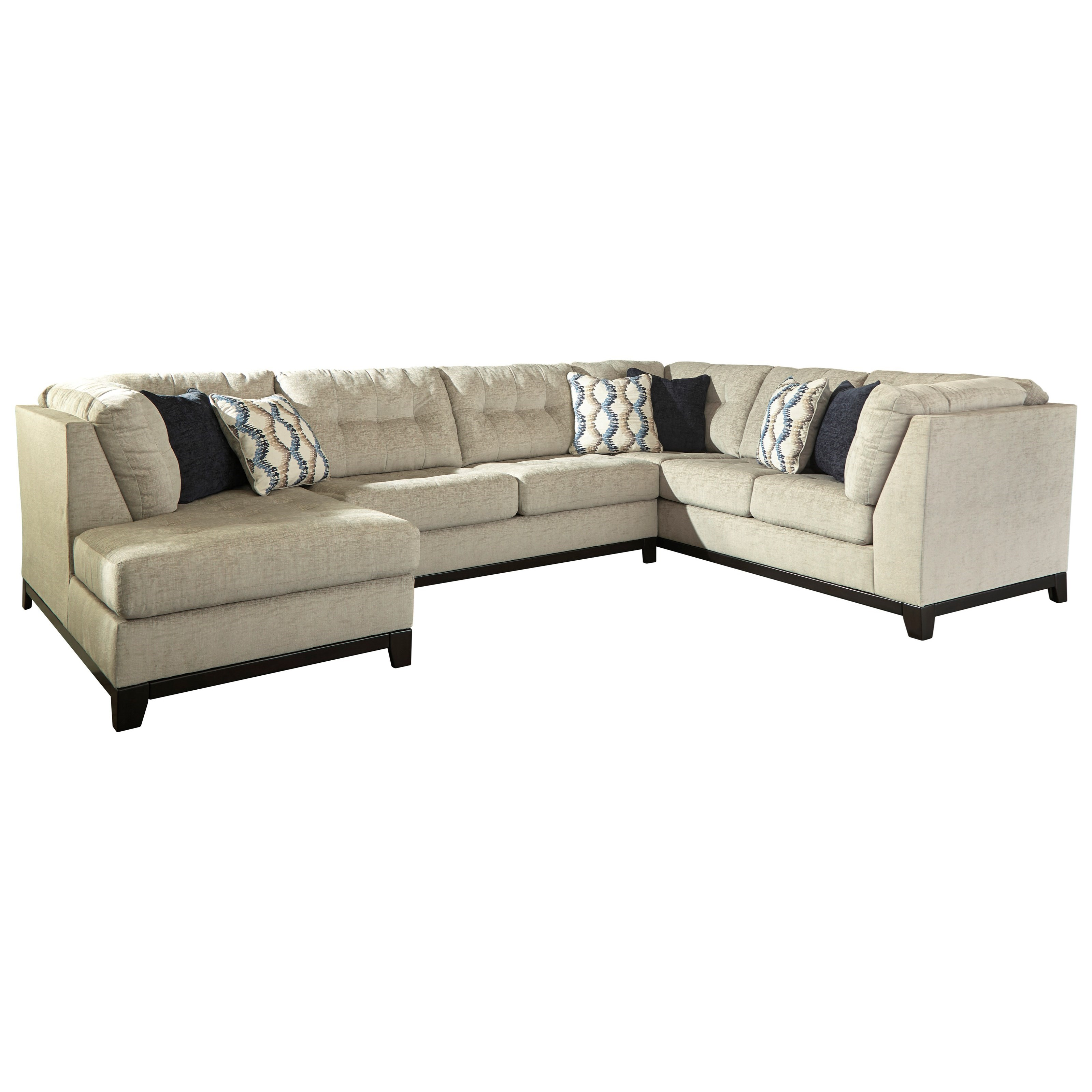 Benchcraft by ashley beckendorf 3 piece sectional w left for Armless sectional sofa chaise