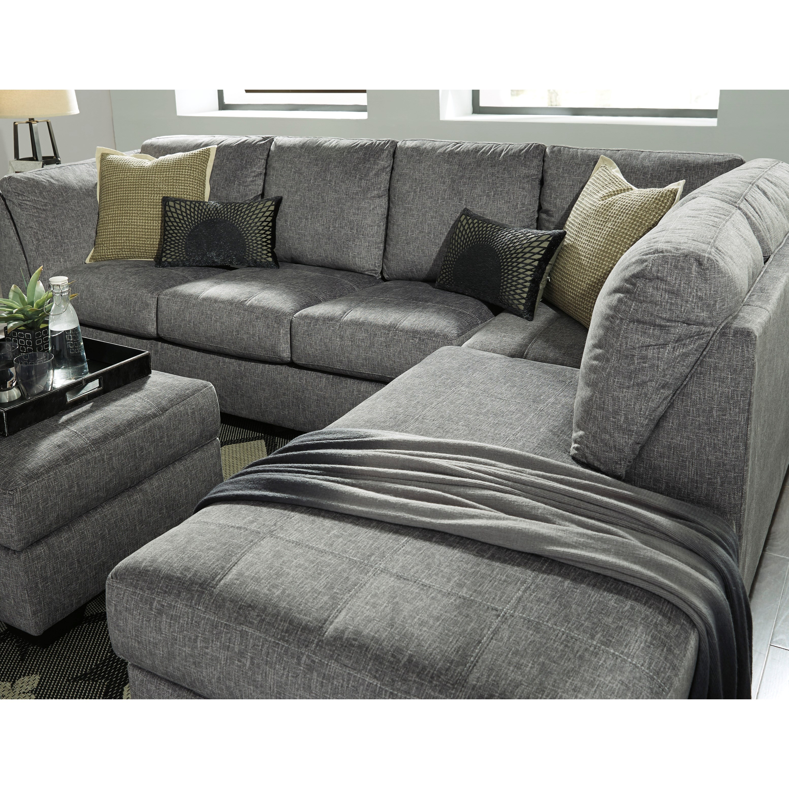 Benchcraft belcastel 2 piece sectional with right chaise for Sectional sofa pieces sold separately