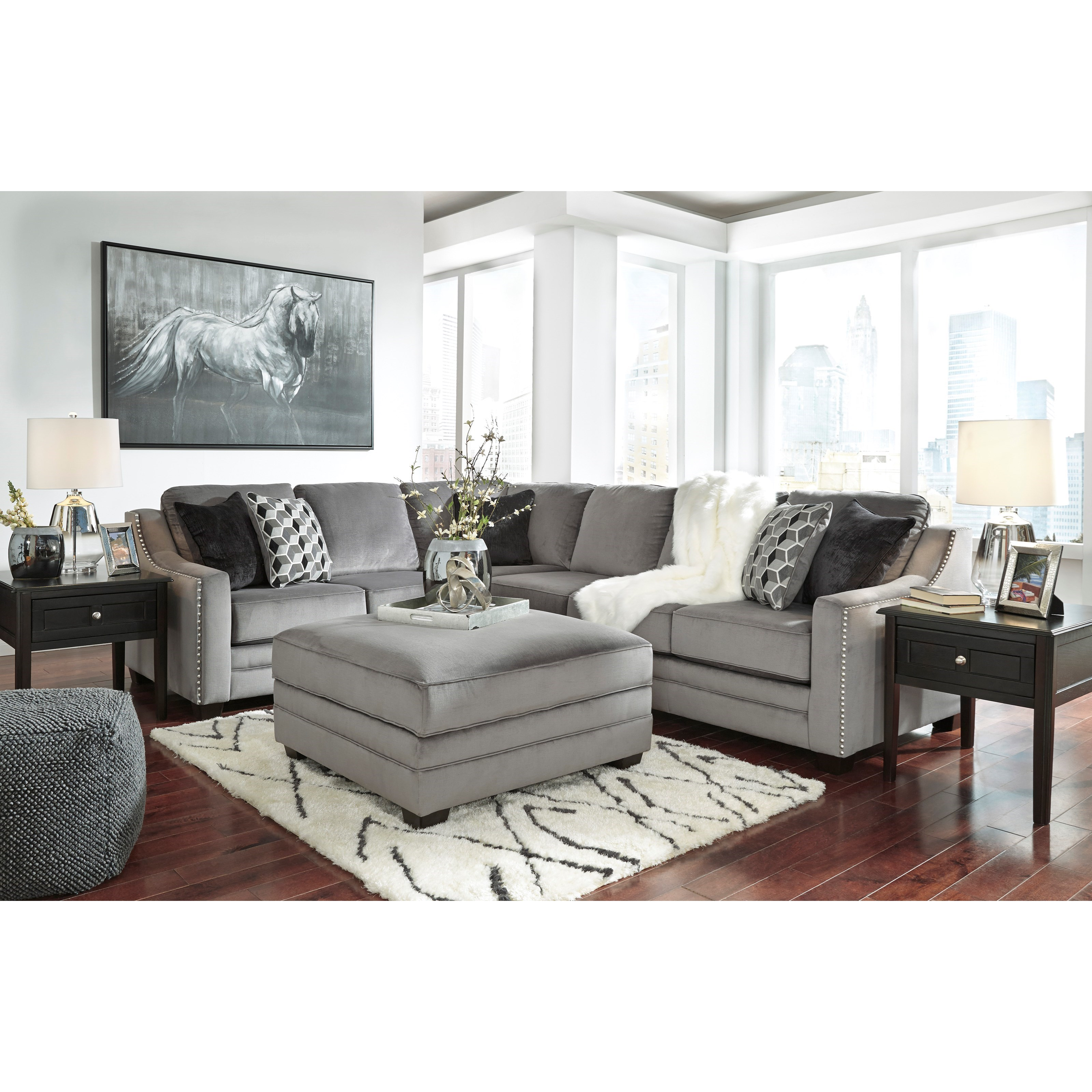 Signature design by ashley bicknell contemporary 2 piece for 2 piece sectional sofa ashley