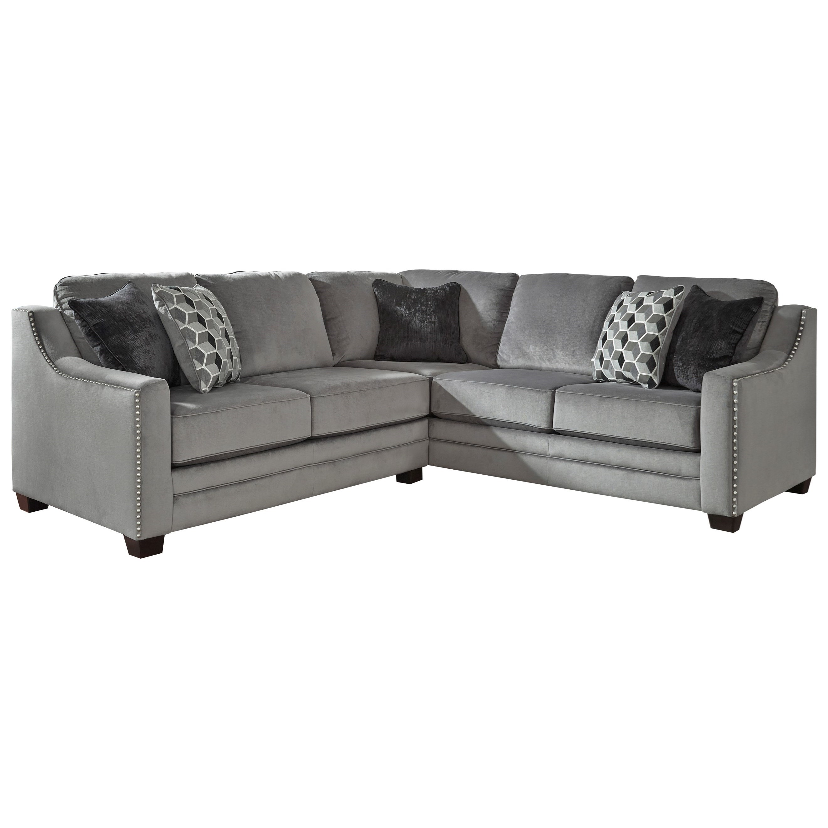 Benchcraft bicknell contemporary 2 piece sectional with for 2 piece sectional sofa with recliner