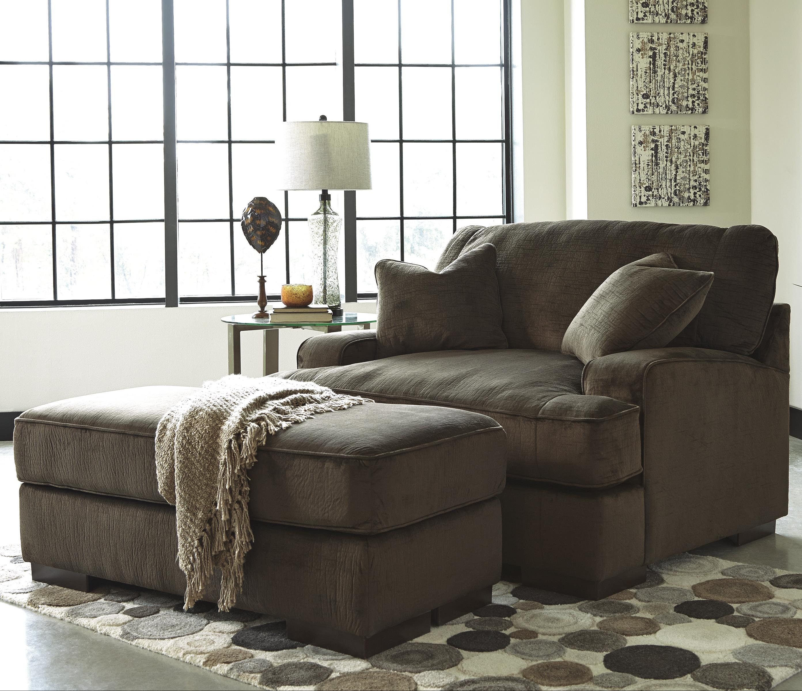 Benchcraft Bisenti Contemporary Chair And A Half Ottoman