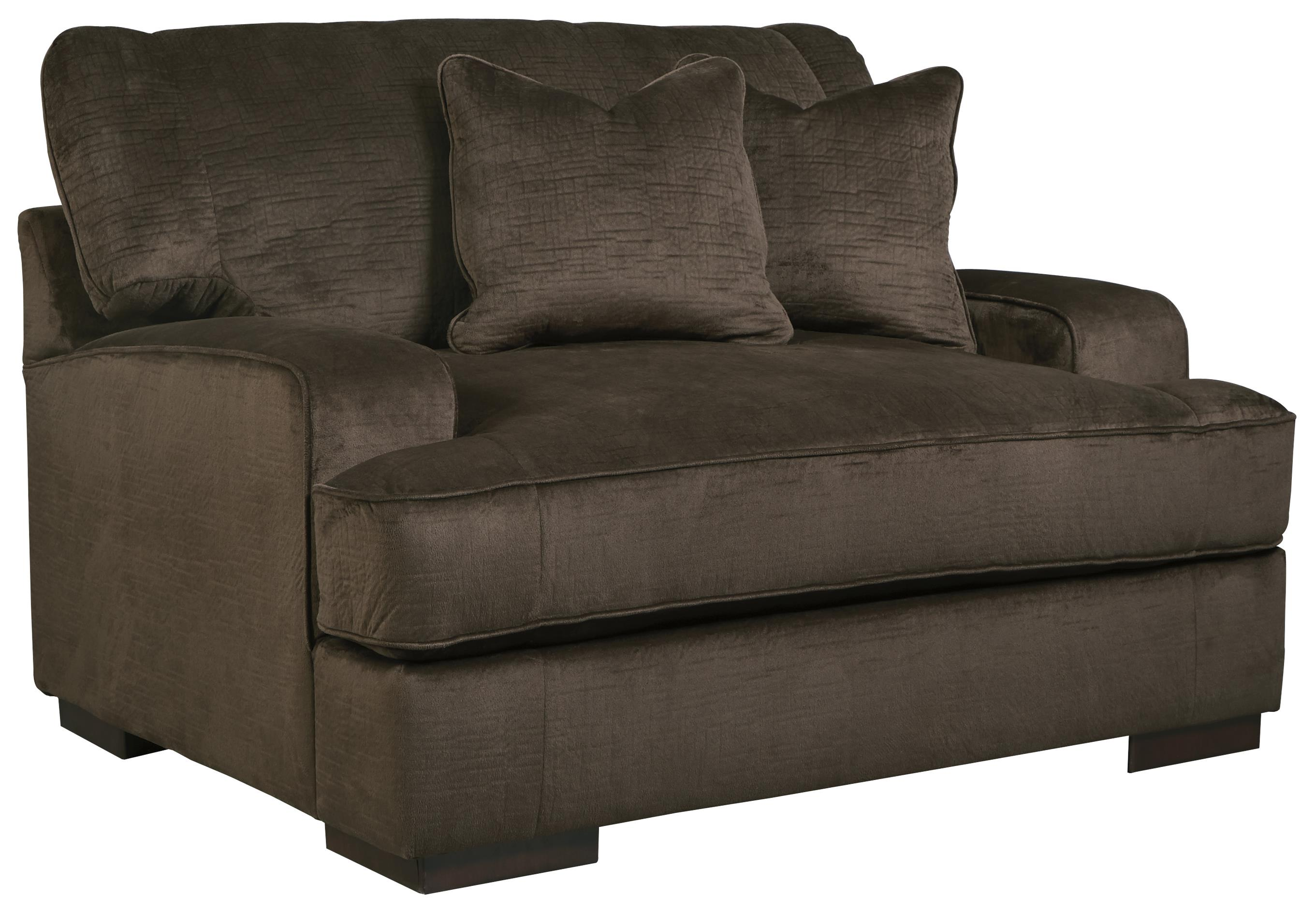 Benchcraft Bisenti Contemporary Chair And A Half With UltraPlush Cushion Du
