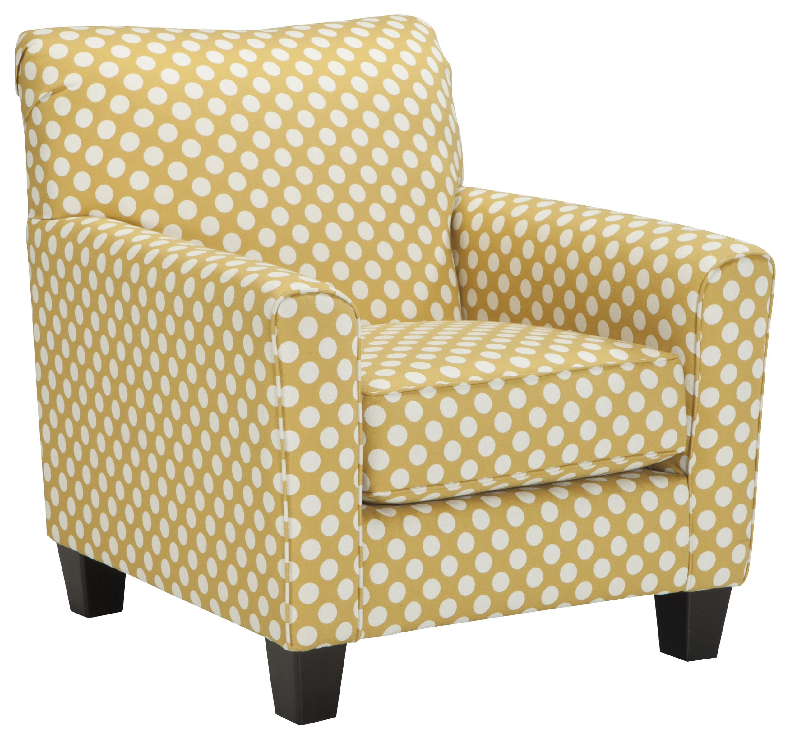 Benchcraft Brindon Accent Chair in Yellow Fabric with