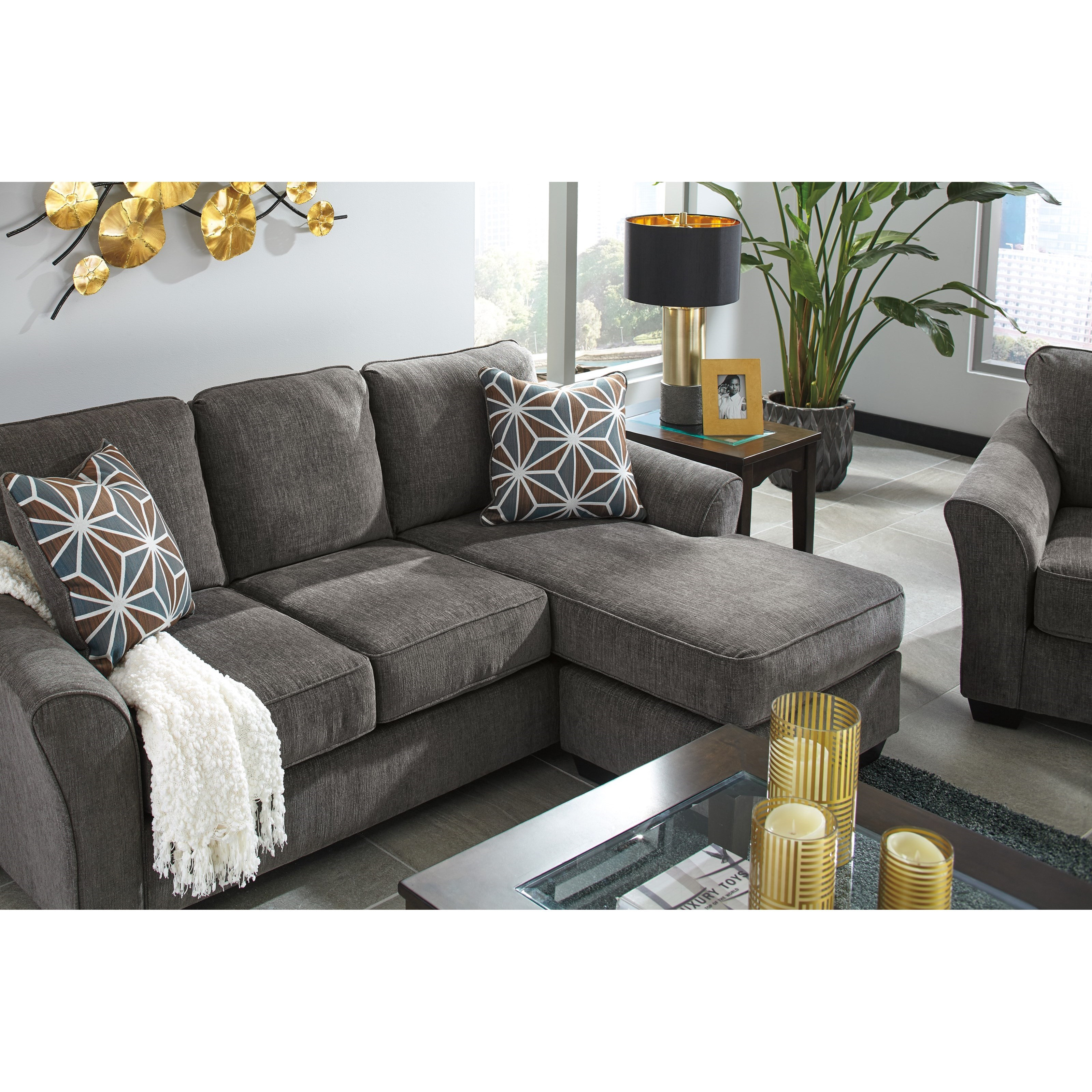 Benchcraft brise 8410268 casual contemporary queen sofa for Divan vs chaise