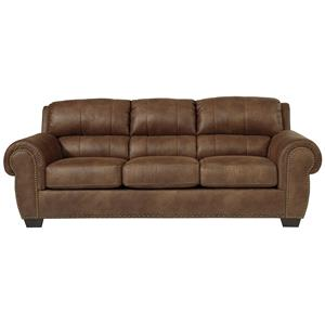 Fusion furniture 3110 fairly sand sofa with nail head trim for Sand leather sofa