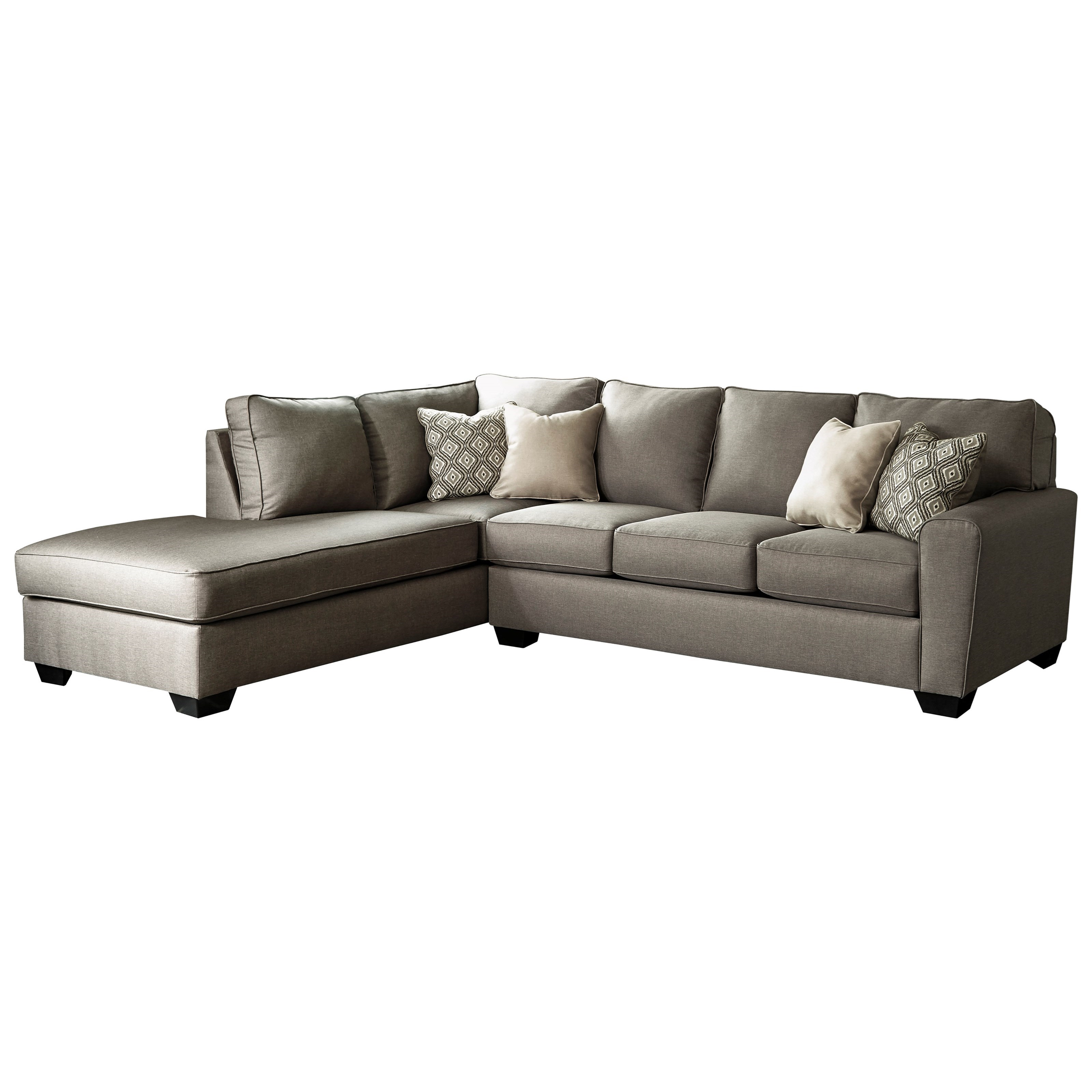 benchcraft calicho contemporary sectional with left chaise del sol furniture sectional sofas. Black Bedroom Furniture Sets. Home Design Ideas