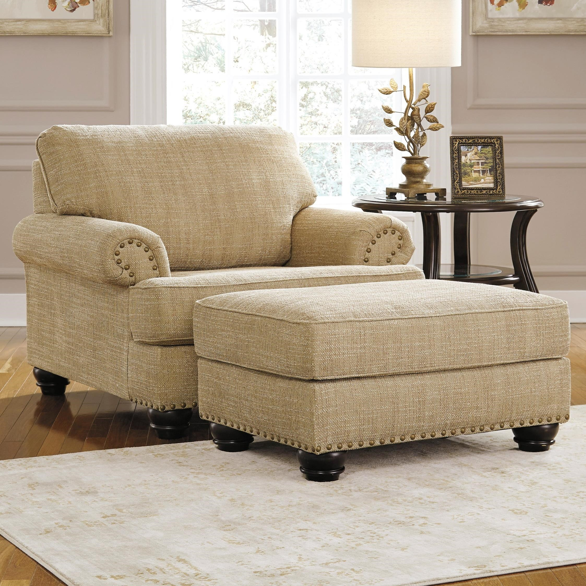 Benchcraft Candoro Chair And A Half Ottoman Value City Furniture Chair Ottoman Sets