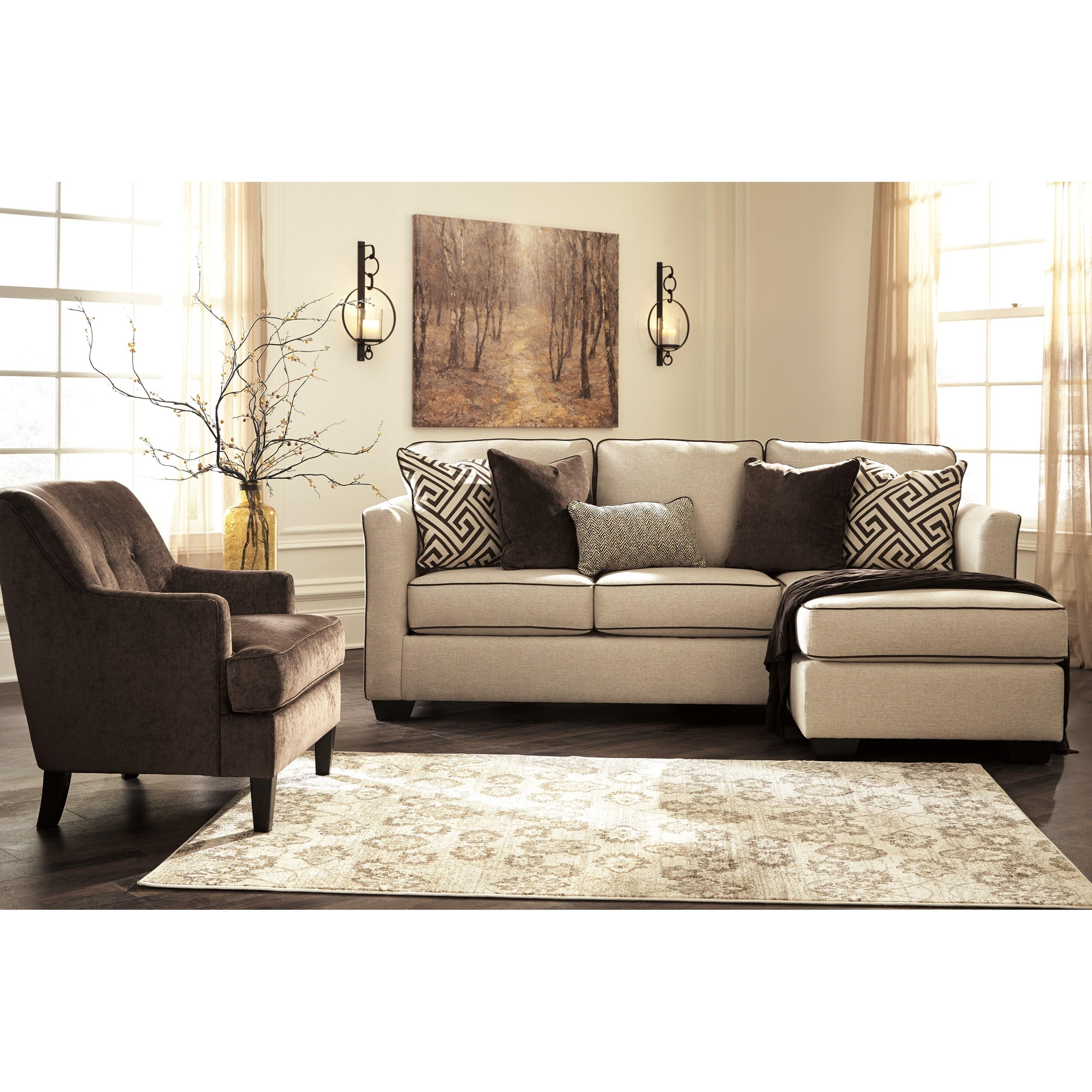 Benchcraft carlinworth stationary living room group for Living room furniture groups