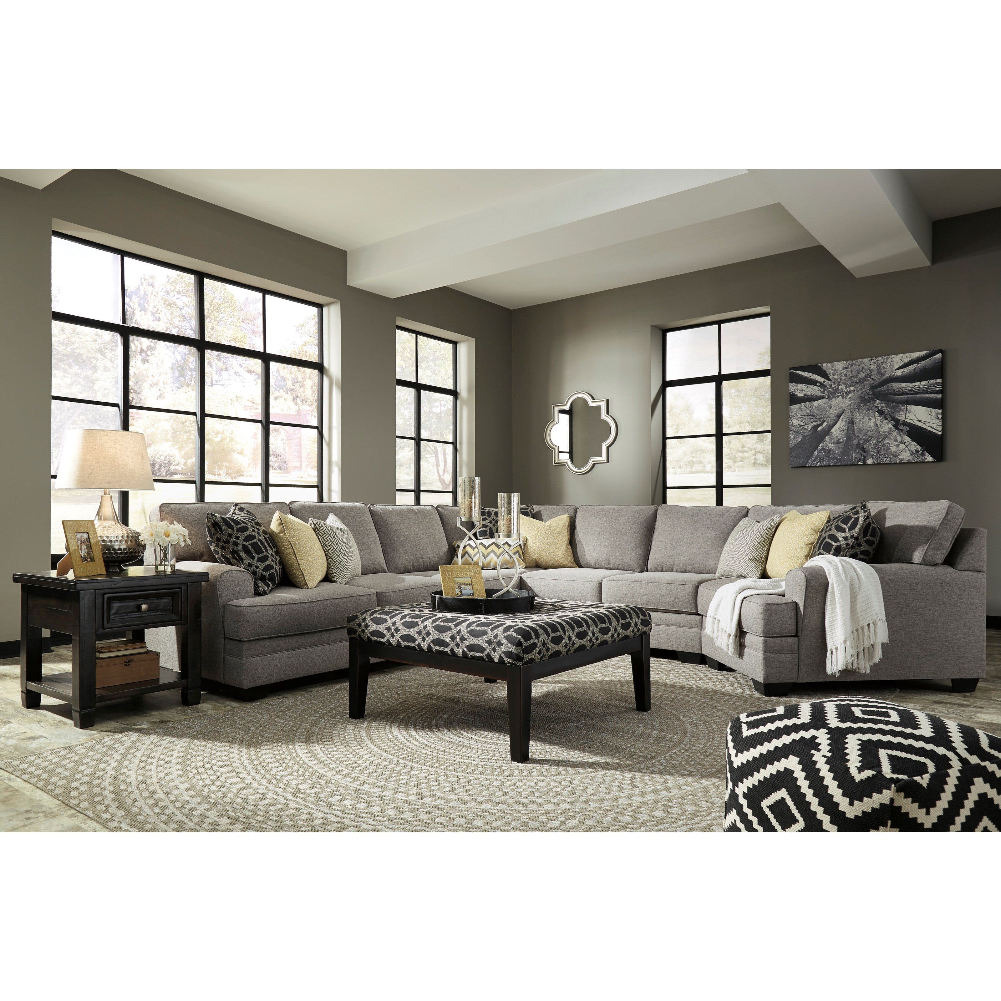 Benchcraft Cresson Contemporary 5 Piece Sectional With Cuddler Dunk Bright Furniture