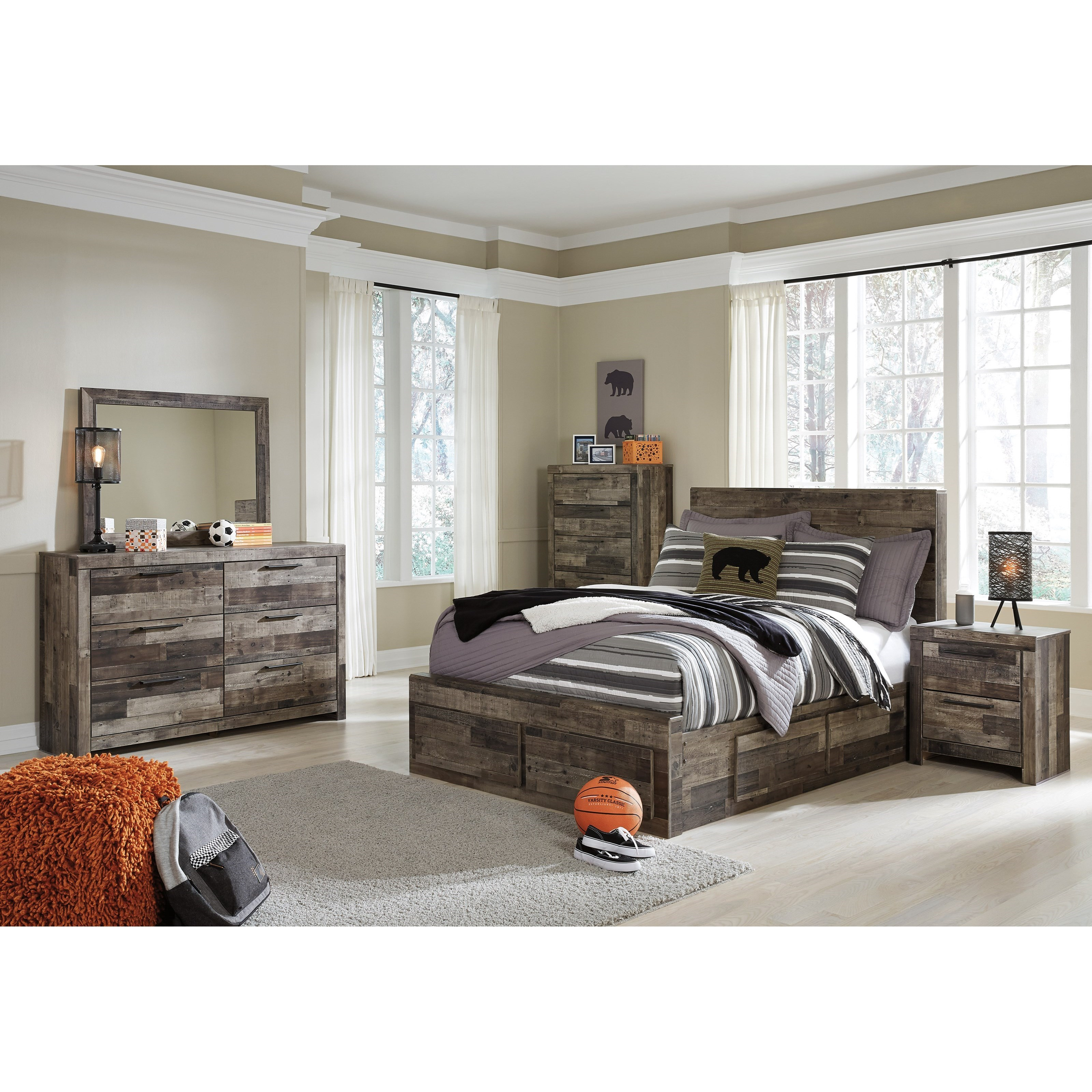 Benchcraft by ashley derekson full bedroom group royal furniture bedroom groups for Ashley bedroom furniture prices