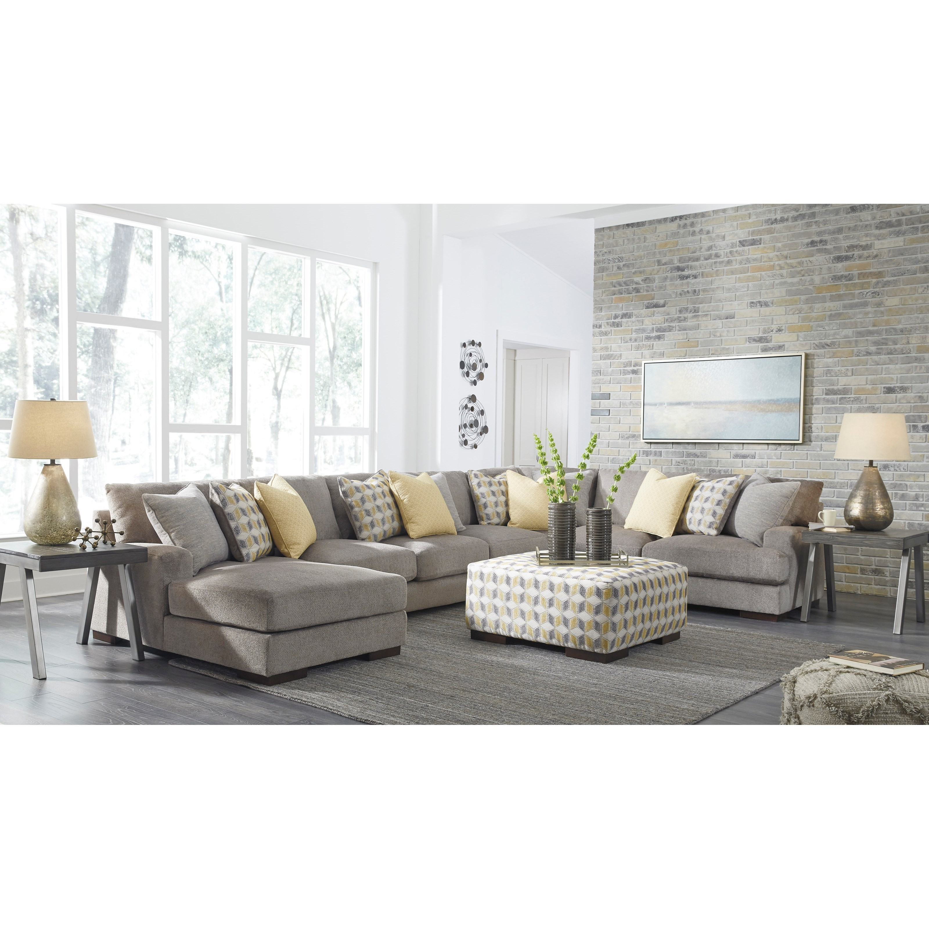 Benchcraft fallsworth living room group value city for Living room furniture groups