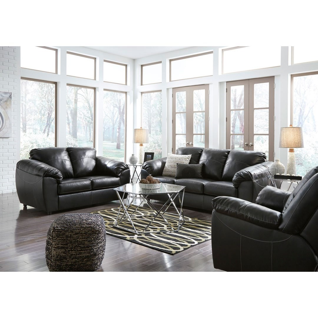 Benchcraft fezzman casual living room group miskelly for Living room furniture groups