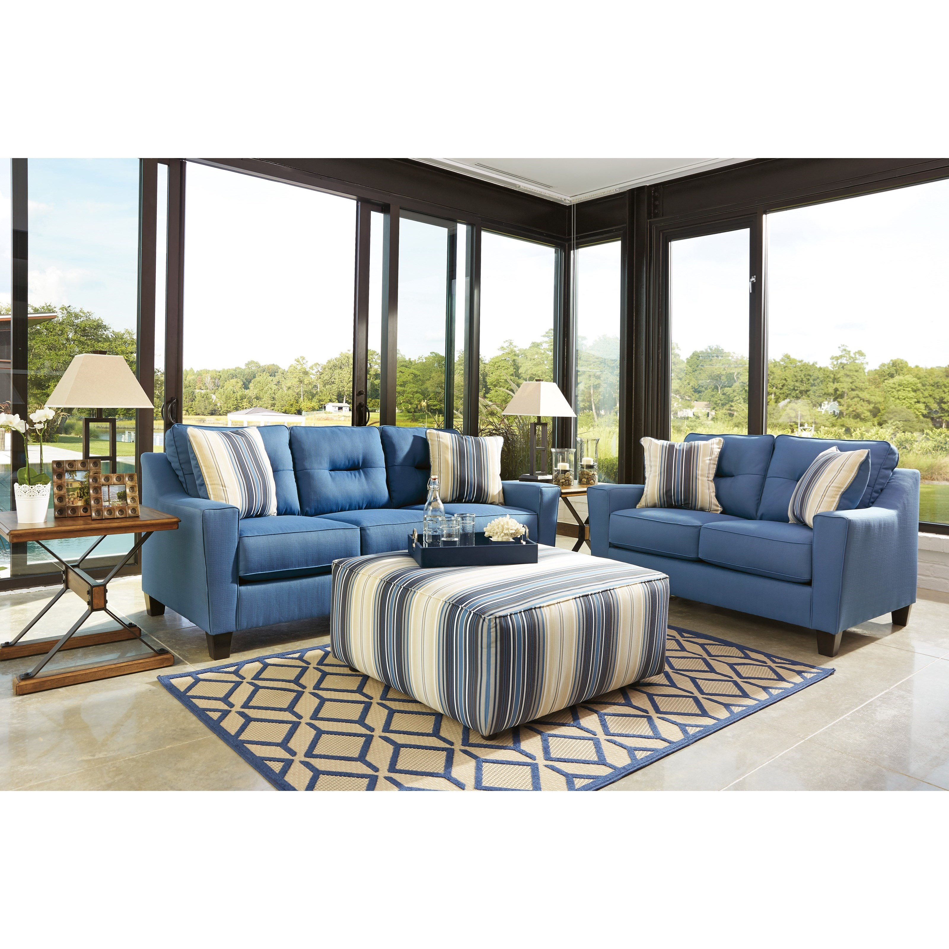 Benchcraft Forsan Nuvella Stationary Living Room Group Vandrie Home Furnishings Stationary