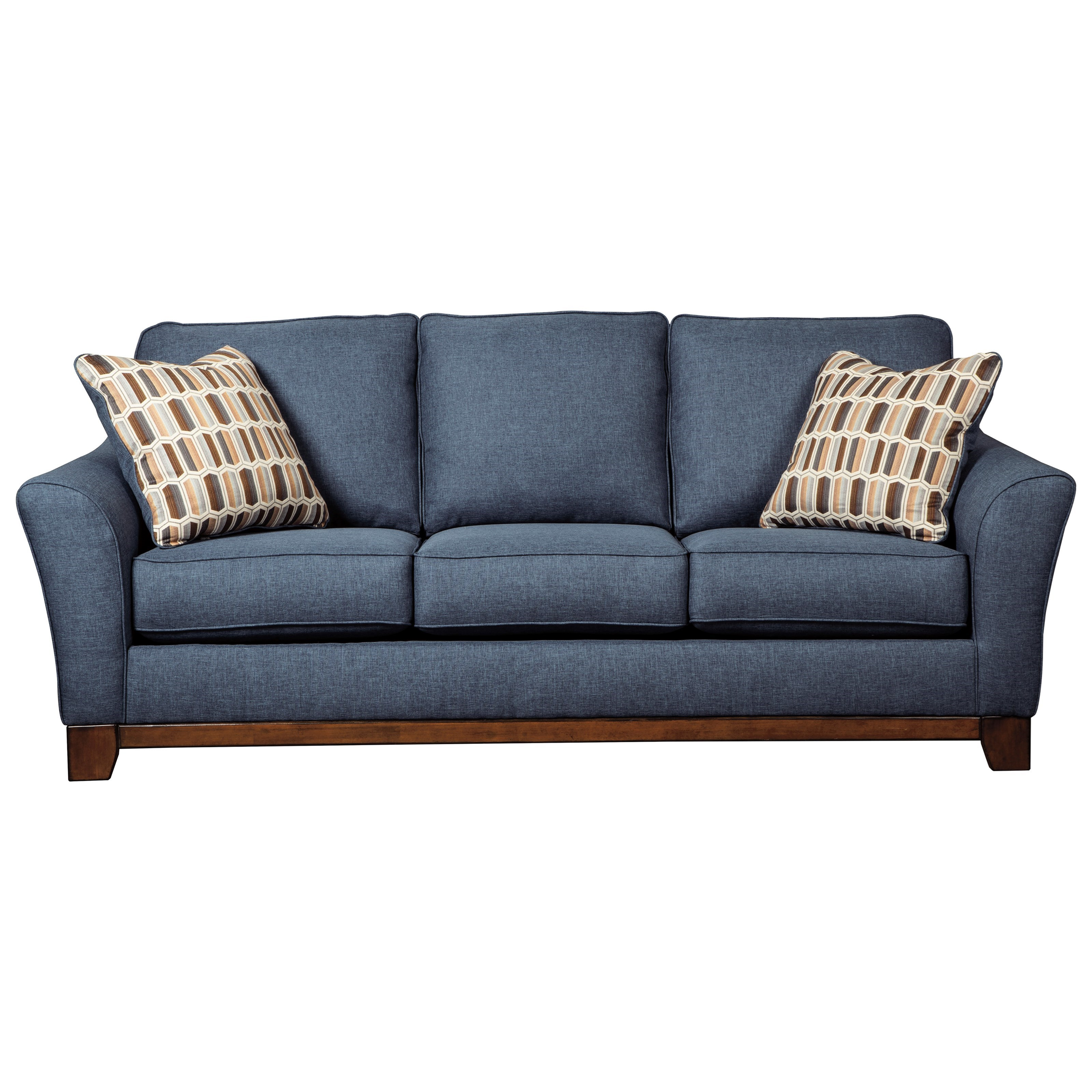 Benchcraft janley 4380738 contemporary sofa with front for Modern front room furniture