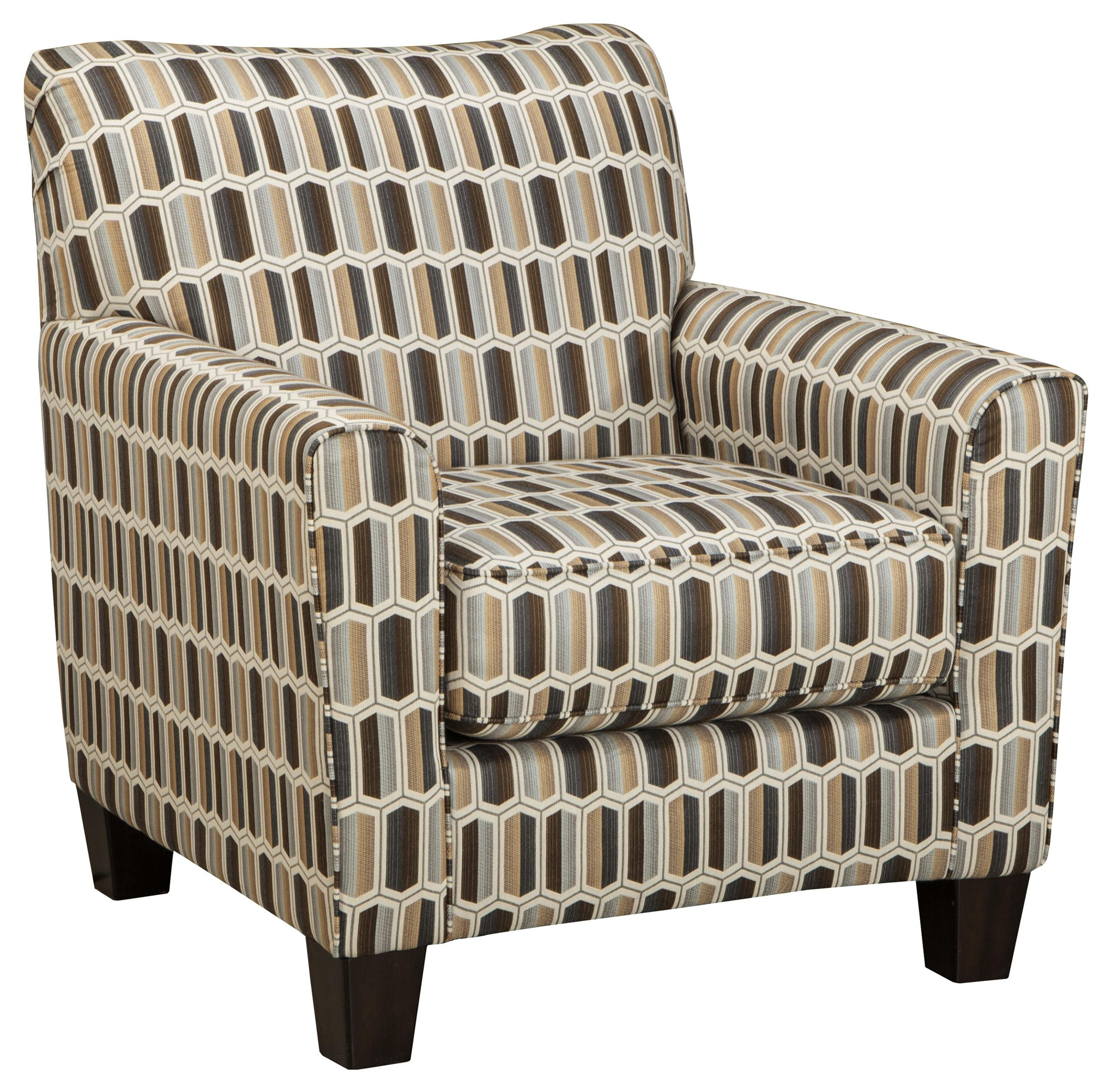 benchcraft janley contemporary accent chair with geometric