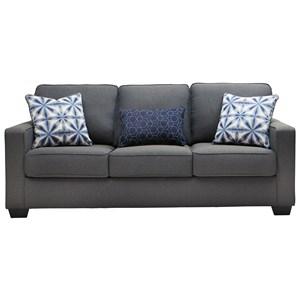 Kiessel Nuvella Contemporary Sofa In Easy Clean Gray