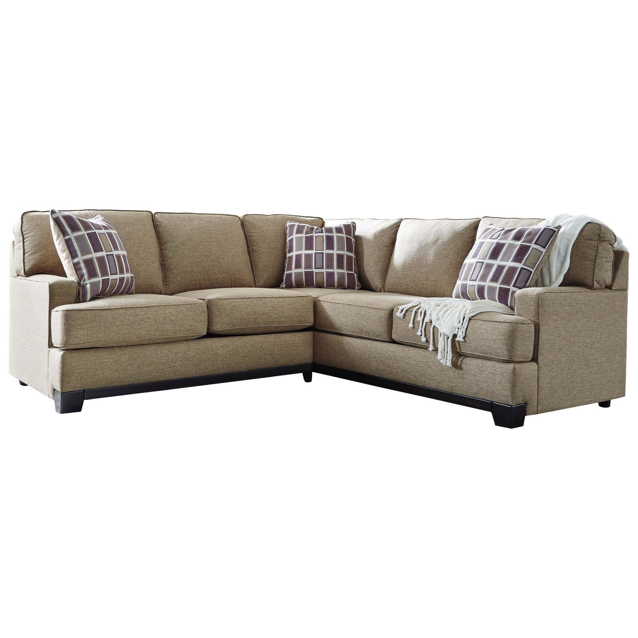 Benchcraft larkhaven contemporary 2 piece sectional with for 2 piece sectional sofa with recliner