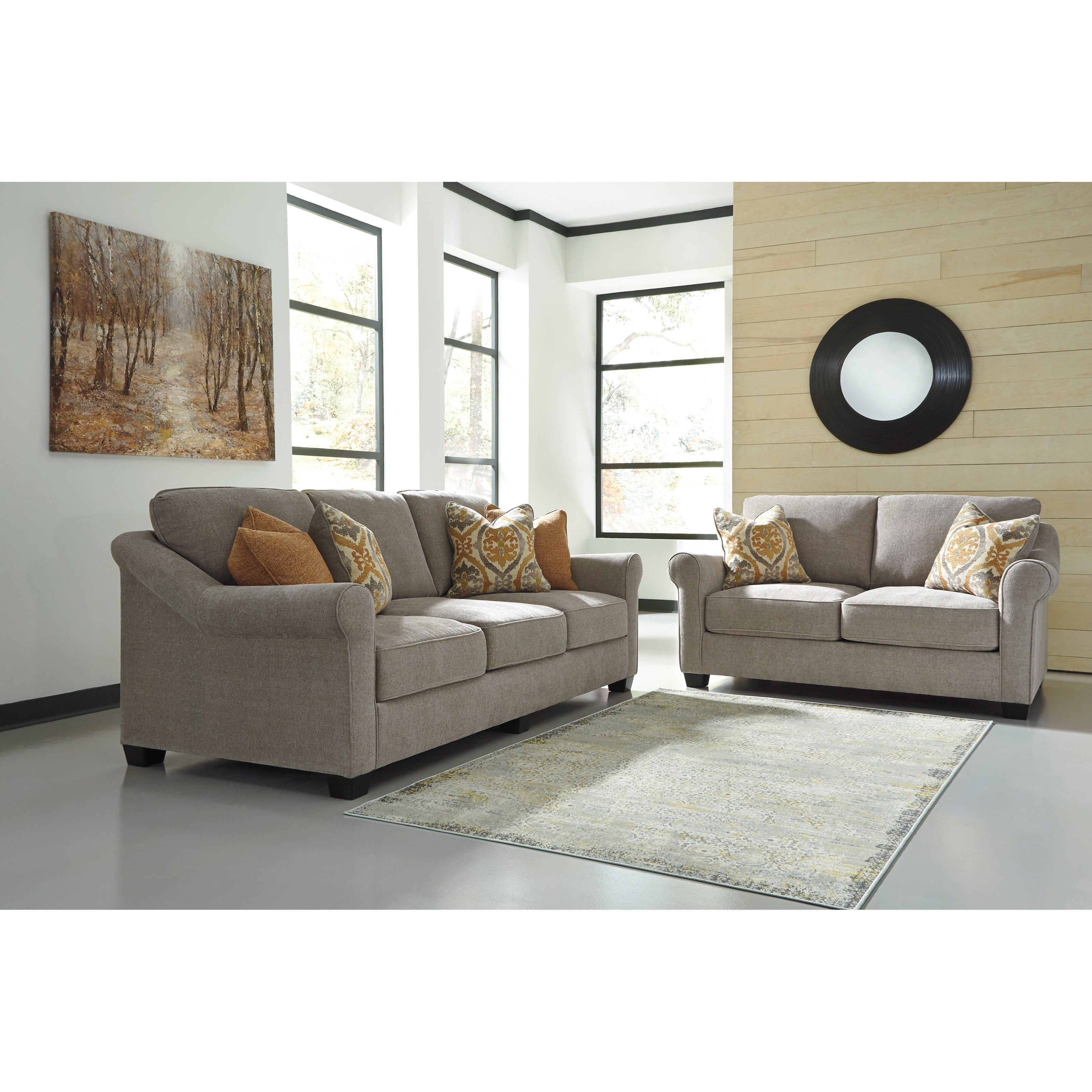 Benchcraft leola stationary living room group zak 39 s fine for Living room furniture groups