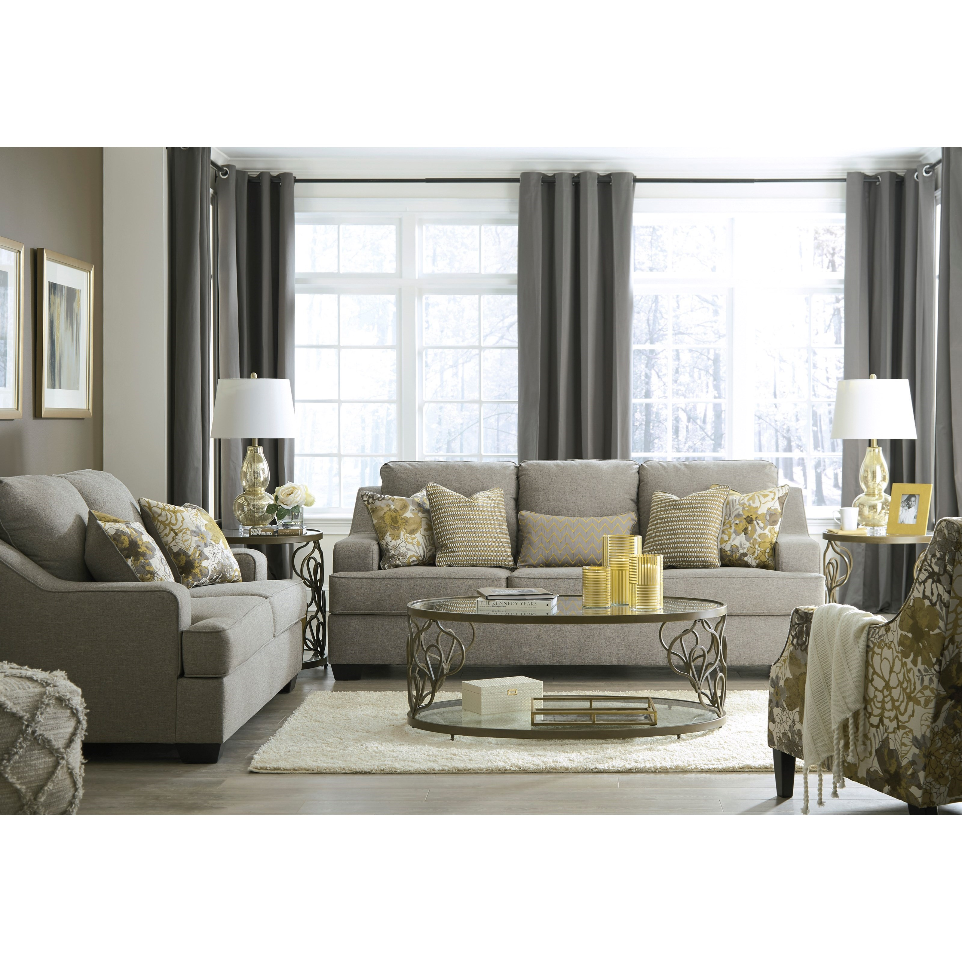 Benchcraft Mandee Stationary Living Room Group Pilgrim Furniture City Stationary Living Room