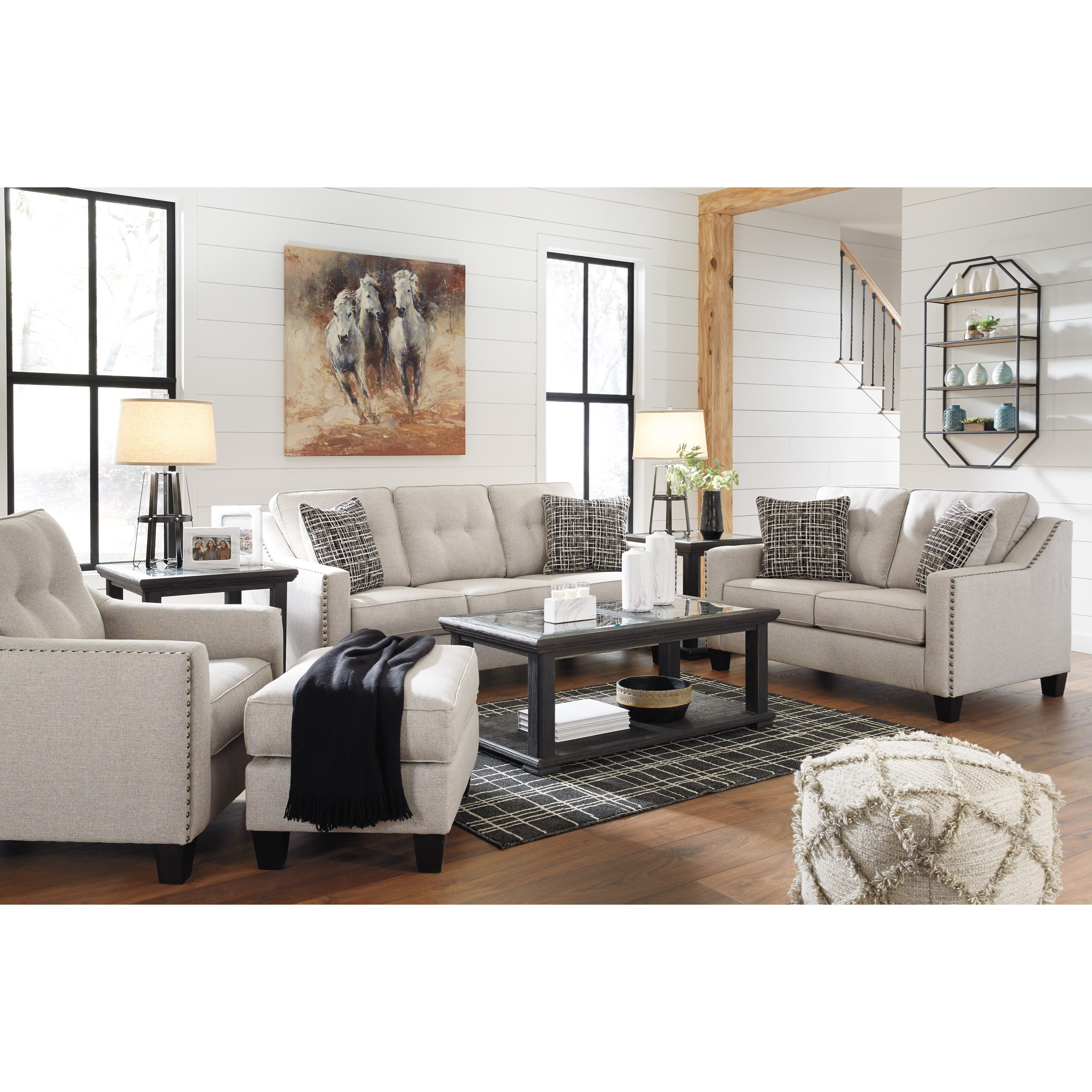 Benchcraft marrero living room group miskelly furniture for Living room furniture groups