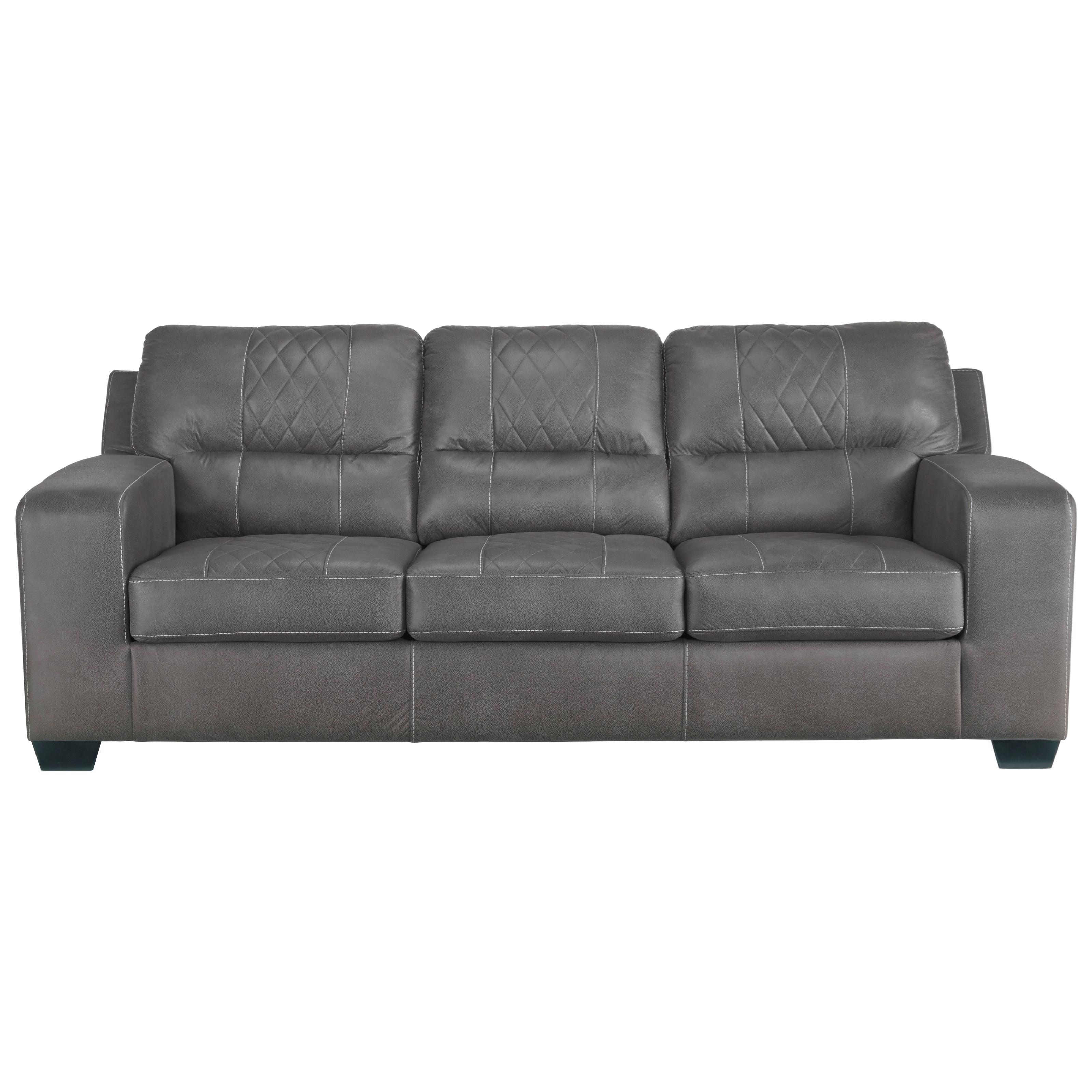 benchcraft narzole contemporary sofa sleeper with bi fold queen memory foam mattress value. Black Bedroom Furniture Sets. Home Design Ideas