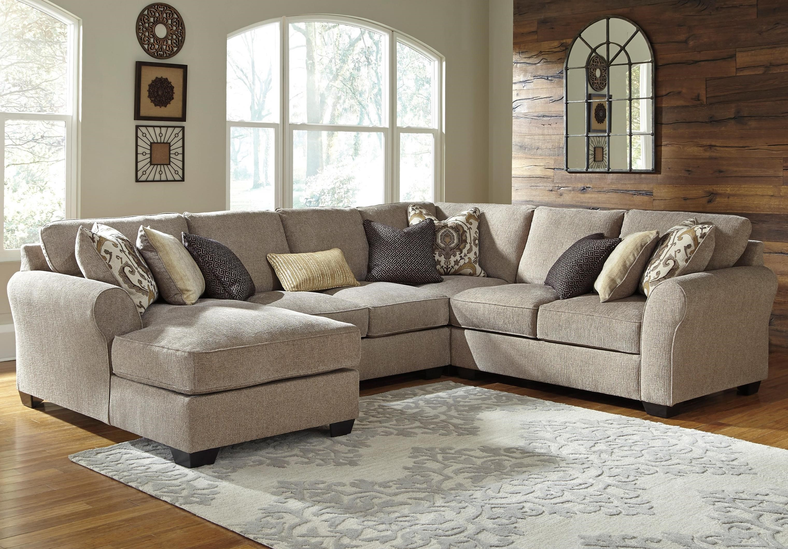 benchcraft pantomine 4 piece sectional with left chaise