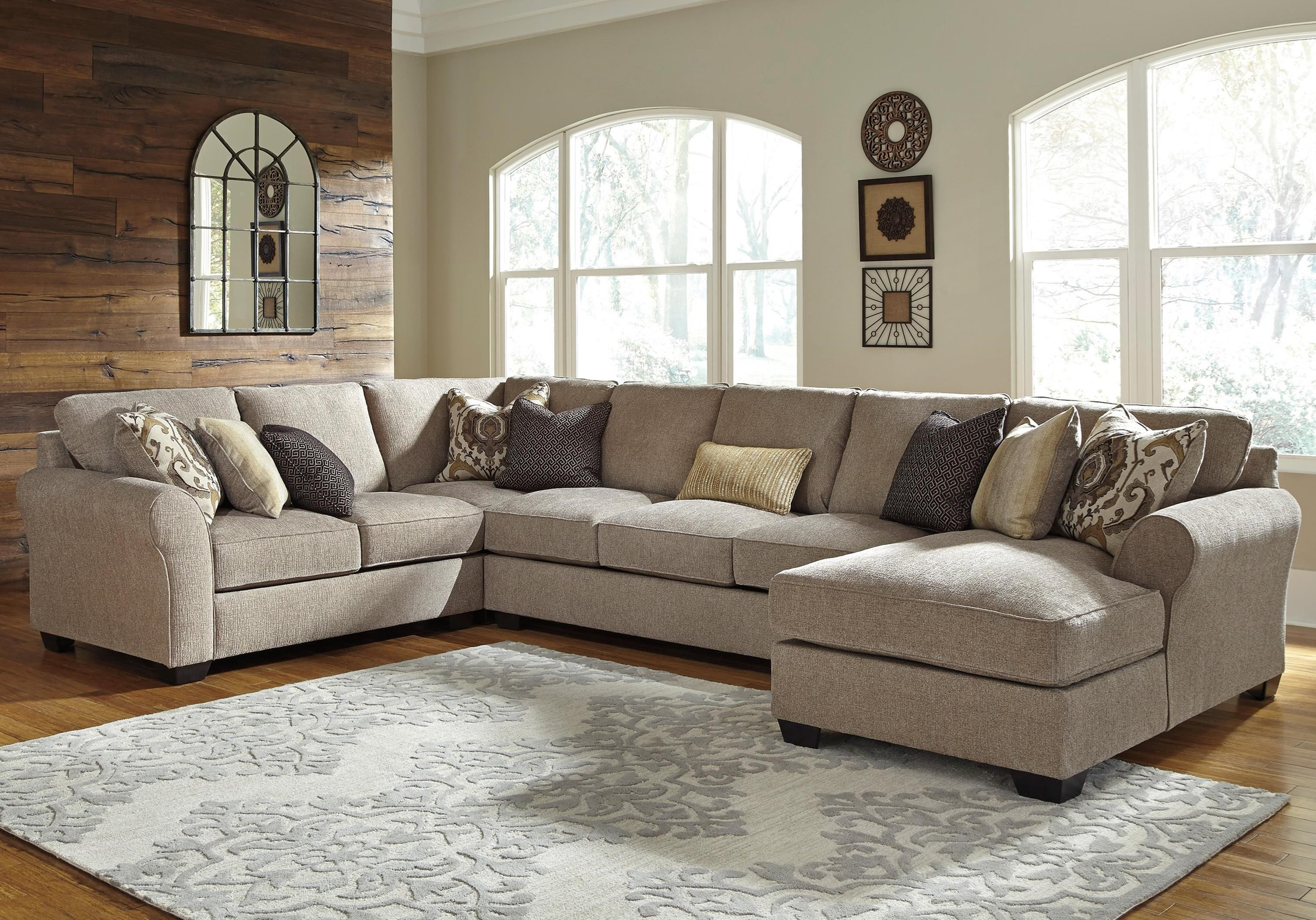 pantomine 4 piece sectional with right chaise armless sofa becker furniture world. Black Bedroom Furniture Sets. Home Design Ideas