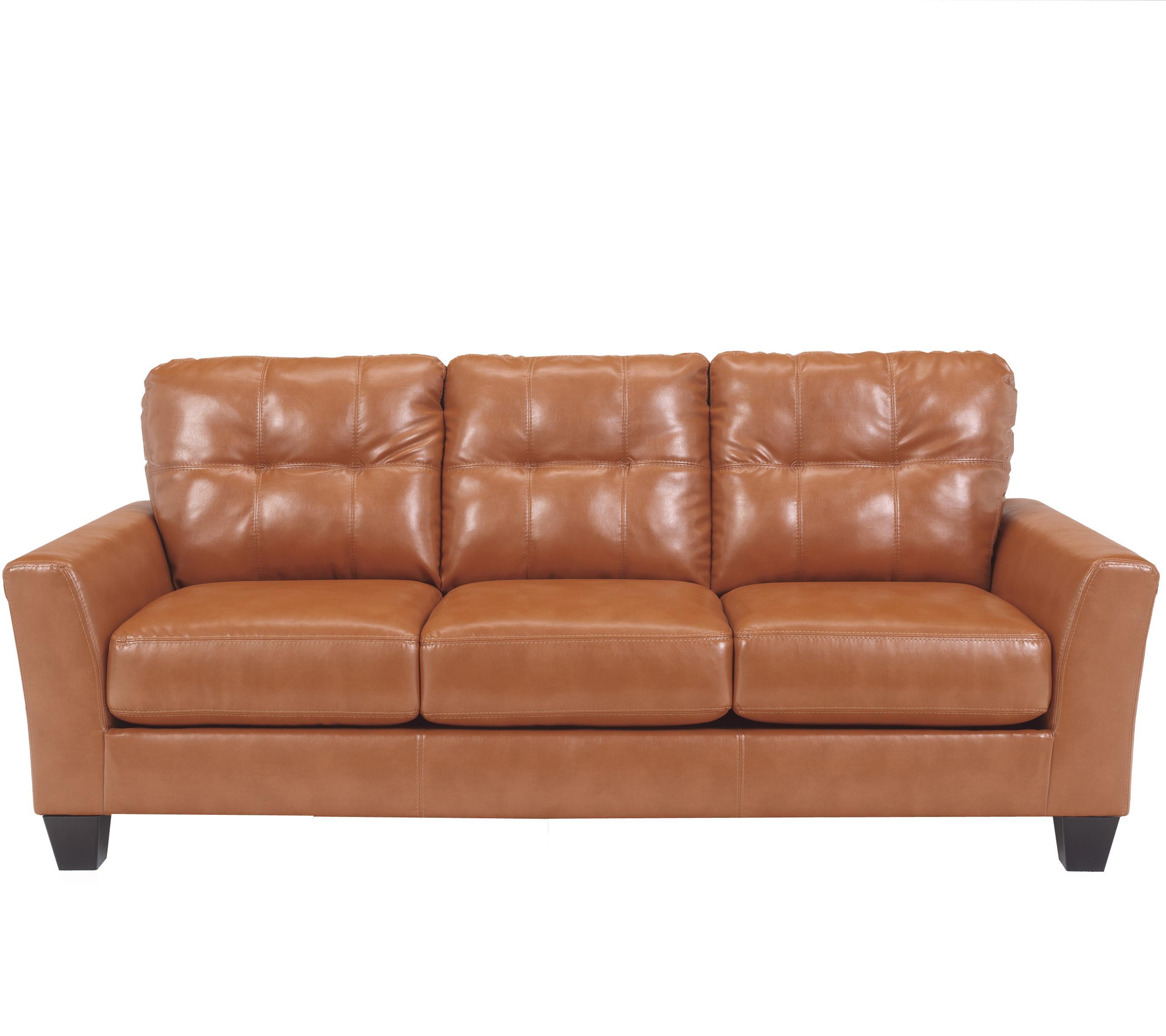 Benchcraft Paulie DuraBlend Orange Contemporary Sofa