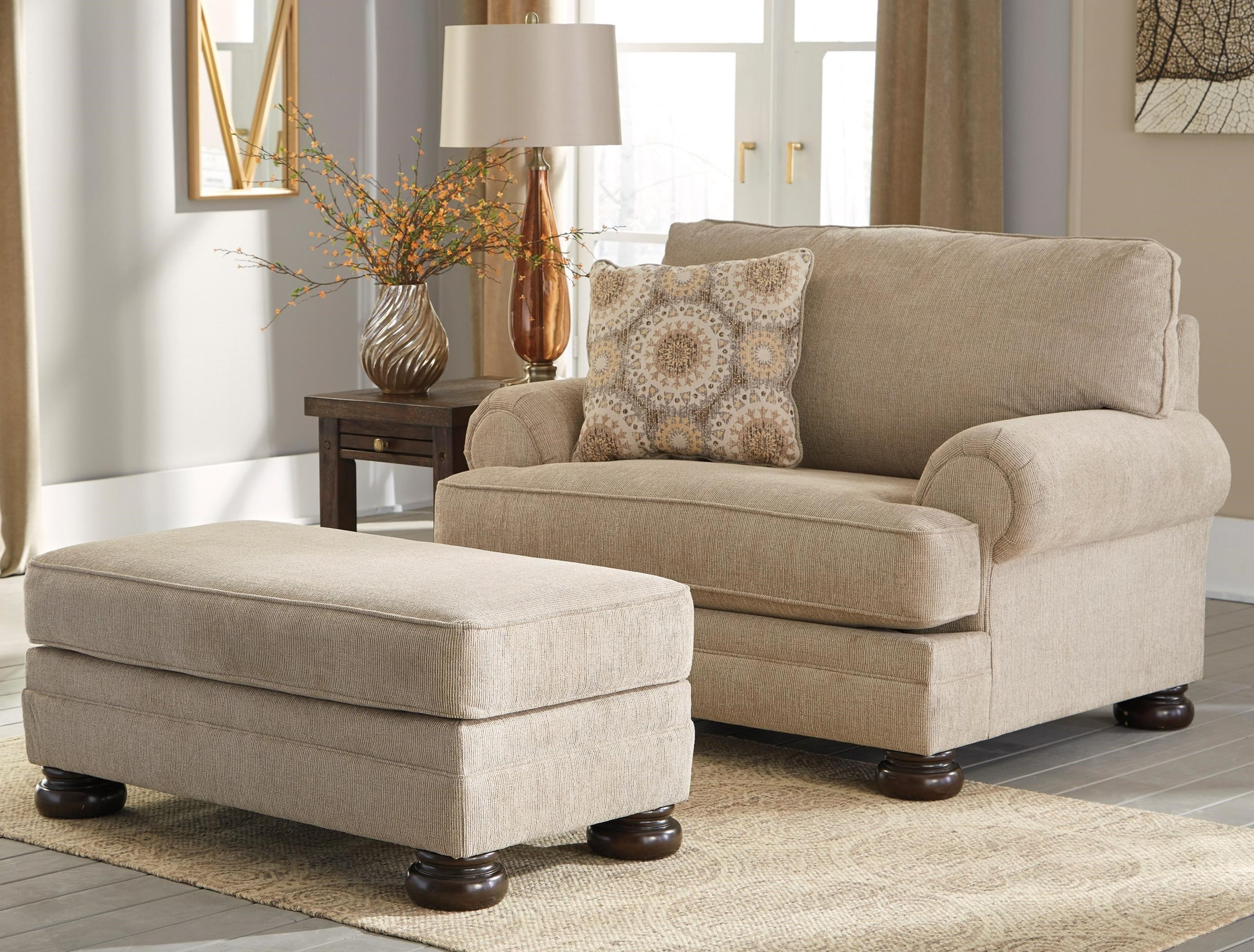 Benchcraft Quarry Hill Chair And A Half Ottoman Furniture Superstore Nm Chair Ottoman Sets