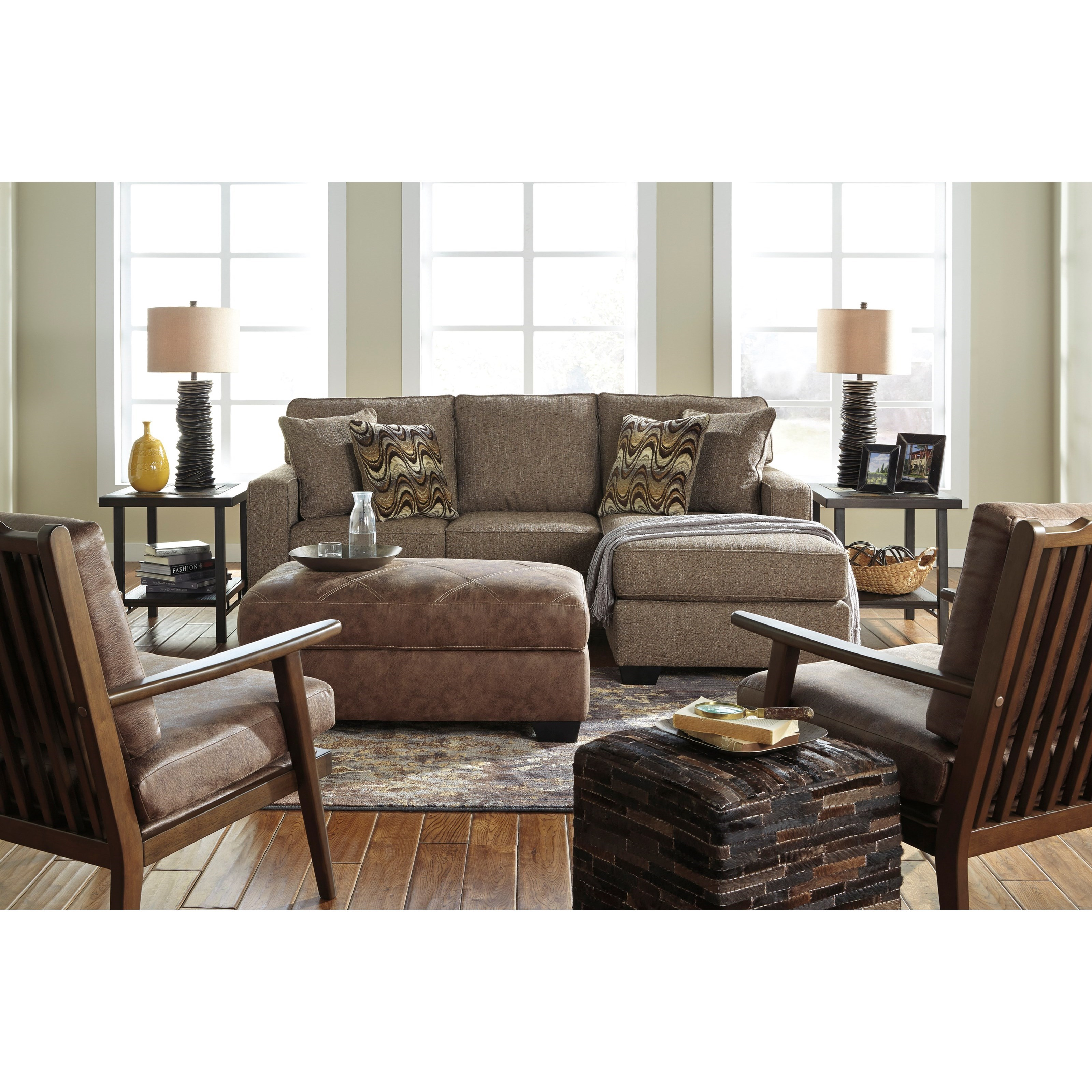 Benchcraft tanacra stationary living room group value for Living room furniture groups