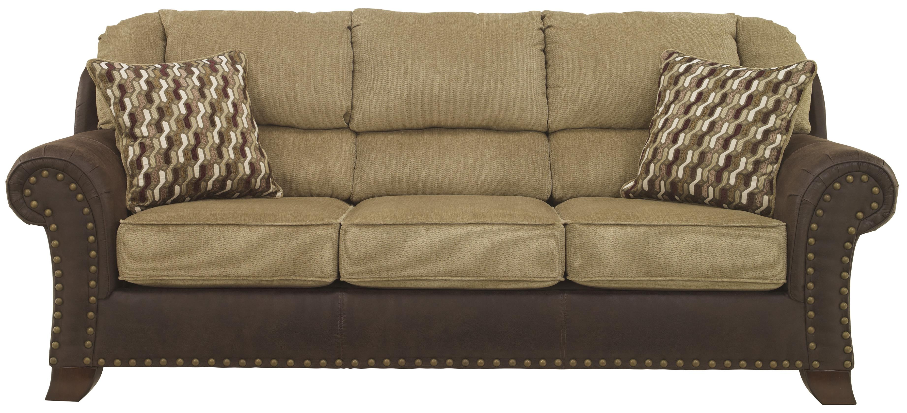Benchcraft vandive 4430038 two tone sofa with chenille for Furniture upholstery