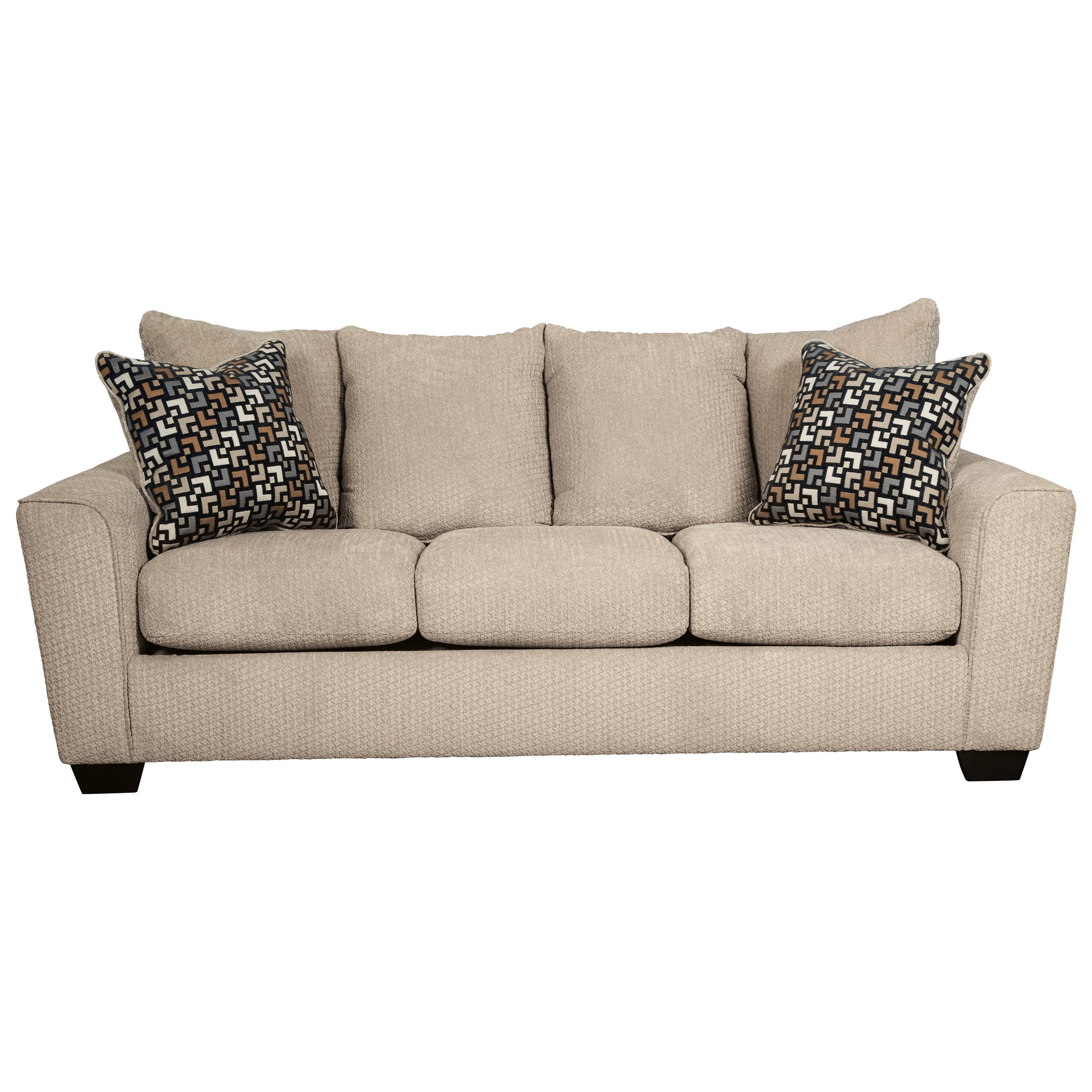 Benchcraft wixon sofa with rounded track arms wayside for Wayside furniture