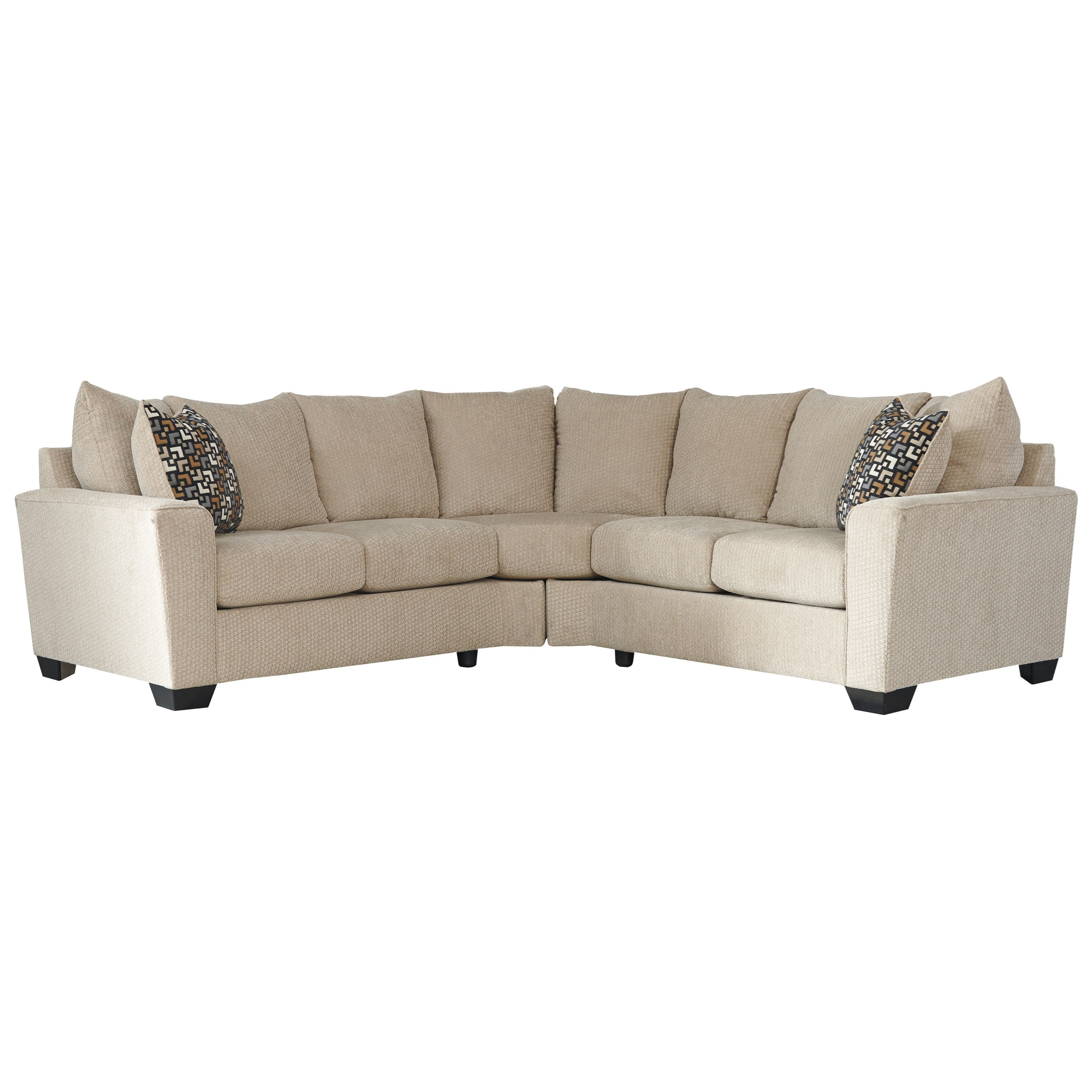 Benchcraft Wixon 2 Piece Corner Sectional With Rounded